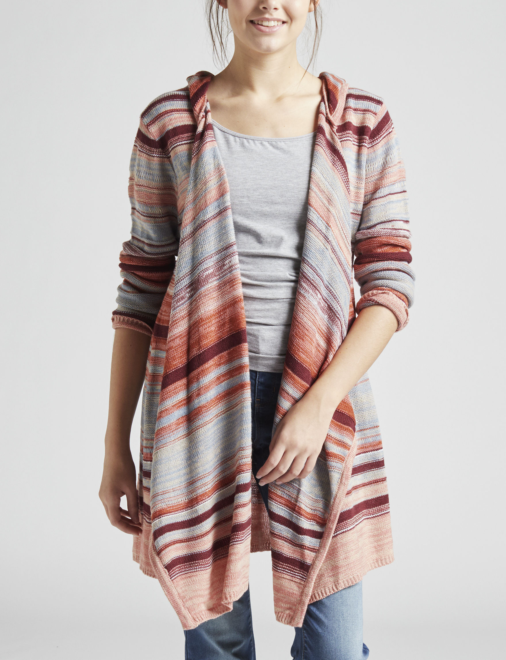 Almost Famous Grey Multi Cardigans