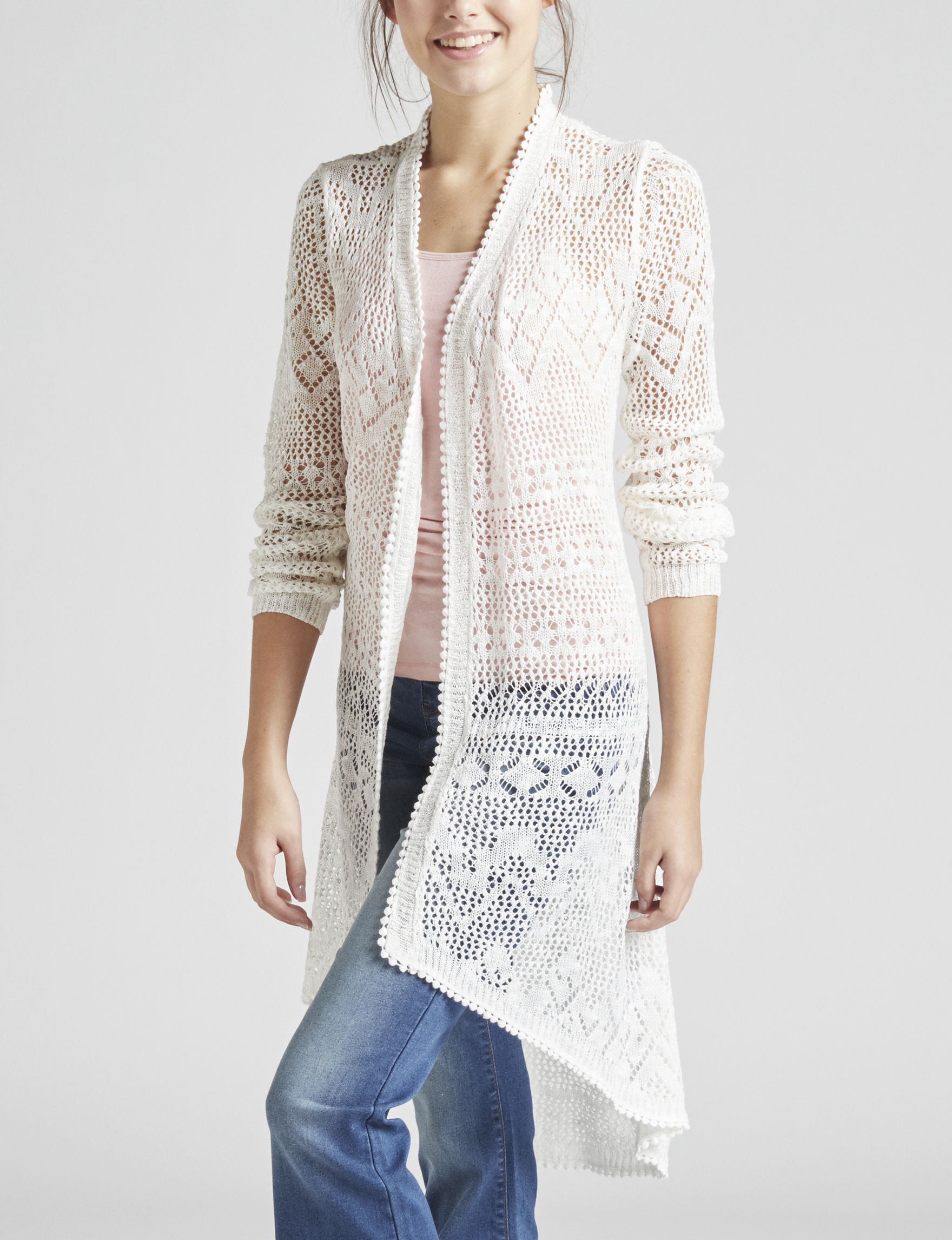 Almost Famous Ivory Cardigans