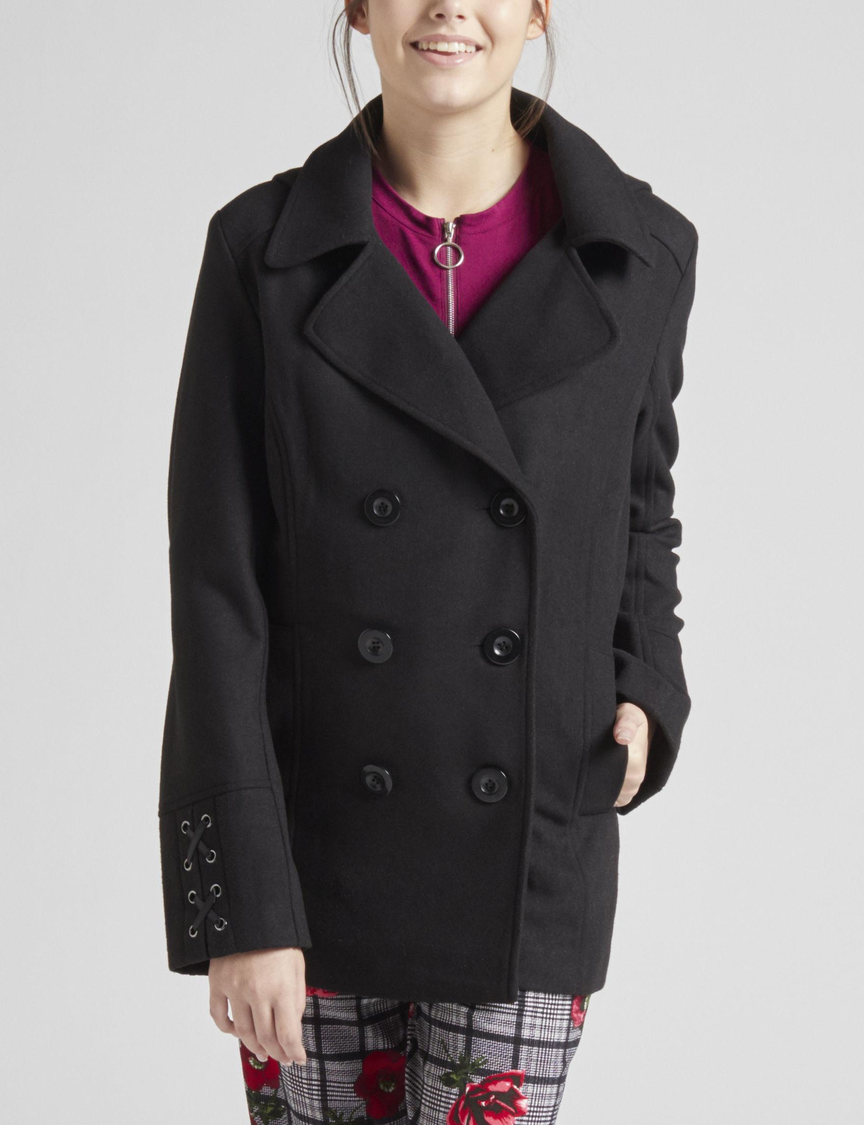 Rampage Black Peacoats & Overcoats