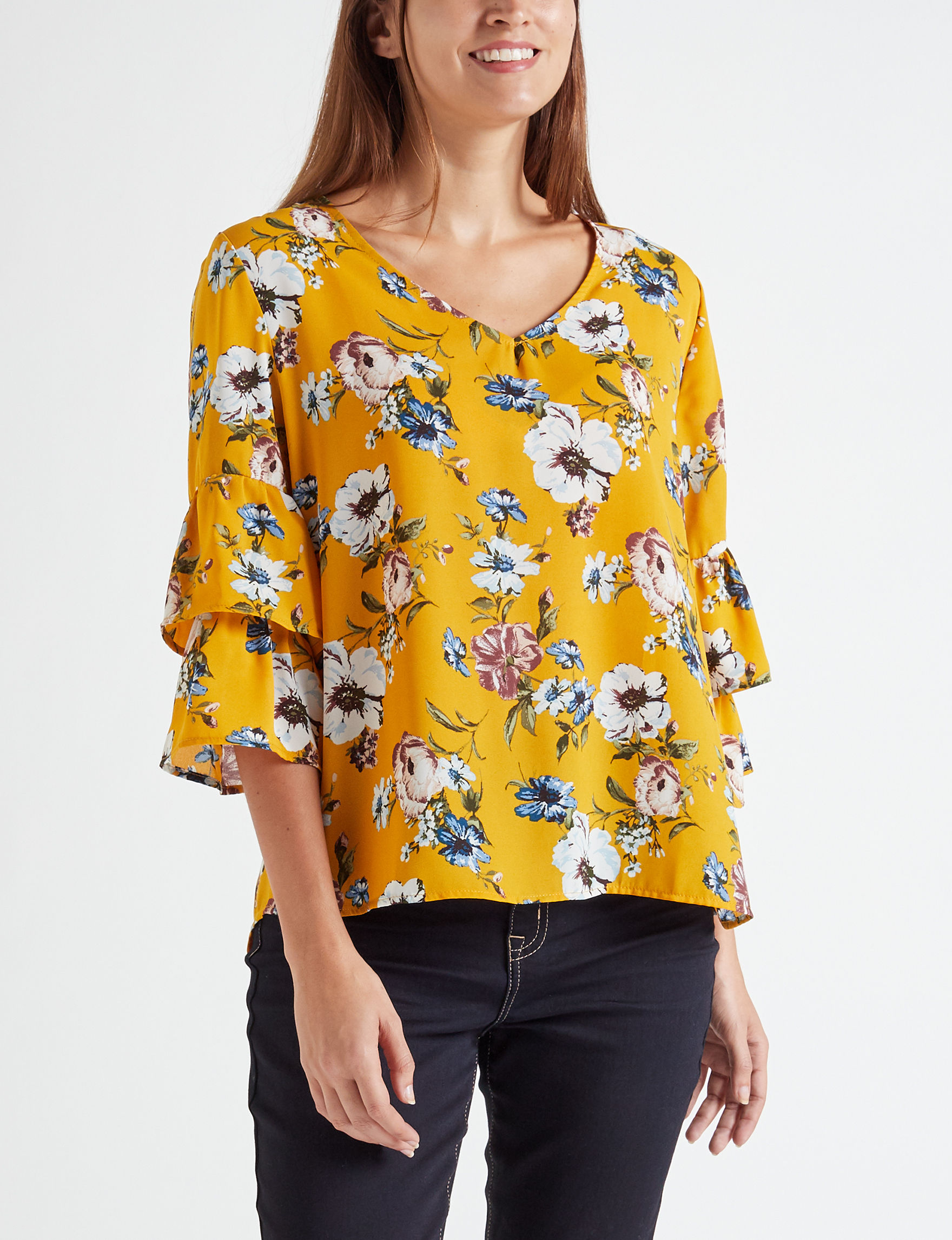 Wishful Park Mustard Shirts & Blouses