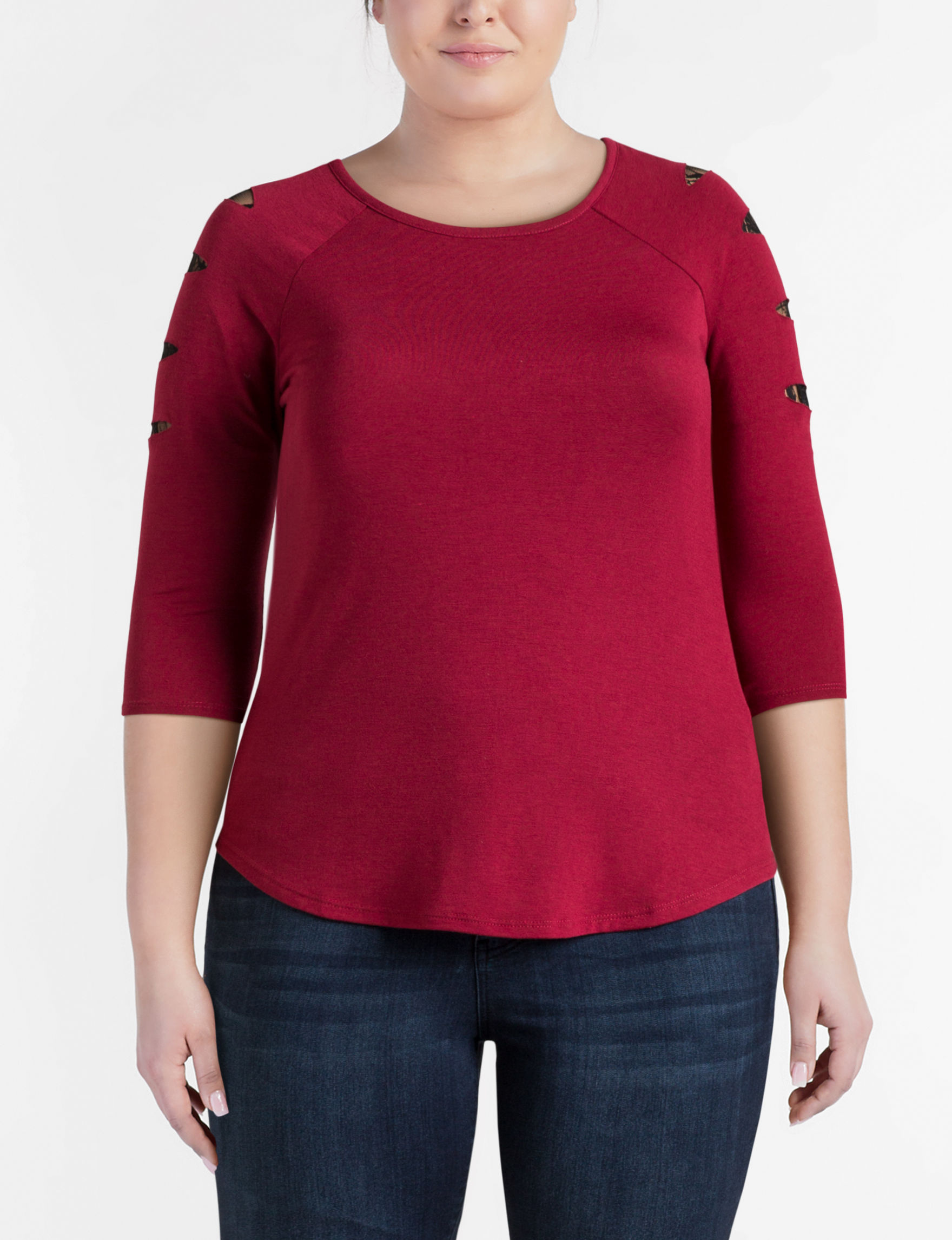 Almost Famous Red Shirts & Blouses