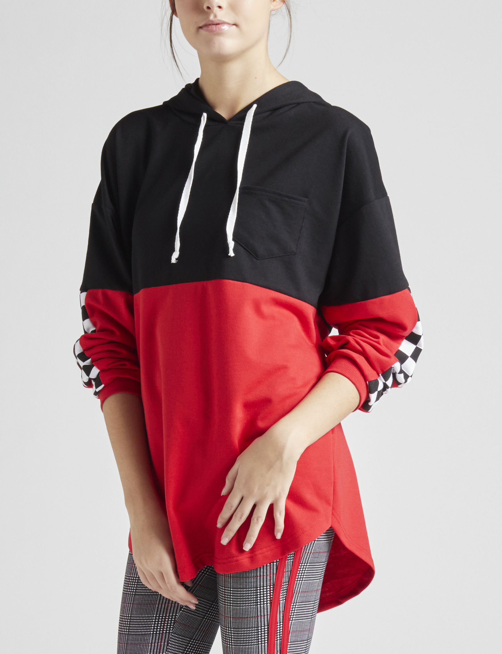 Justify Red Pull-overs