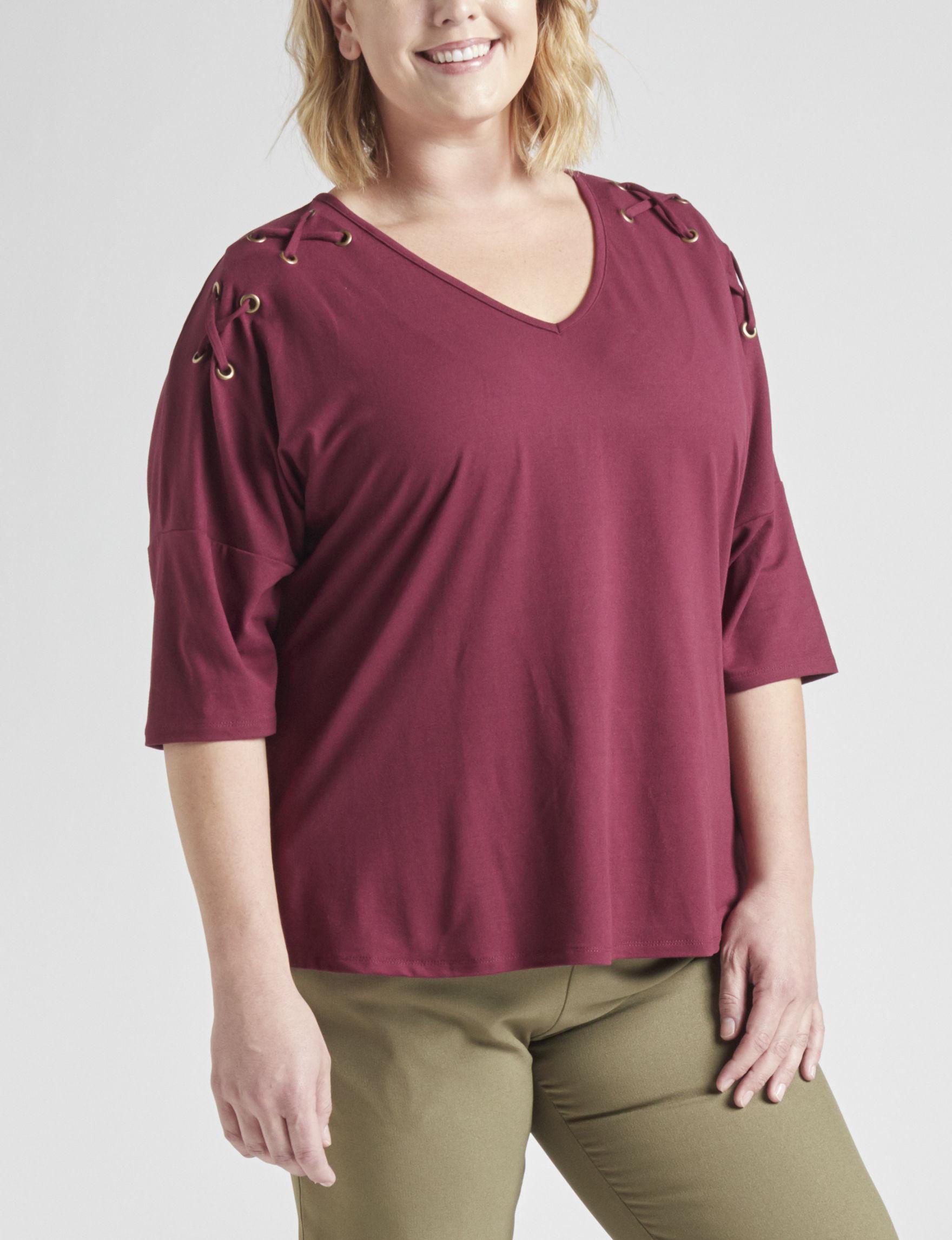 Self Esteem Maroon Shirts & Blouses