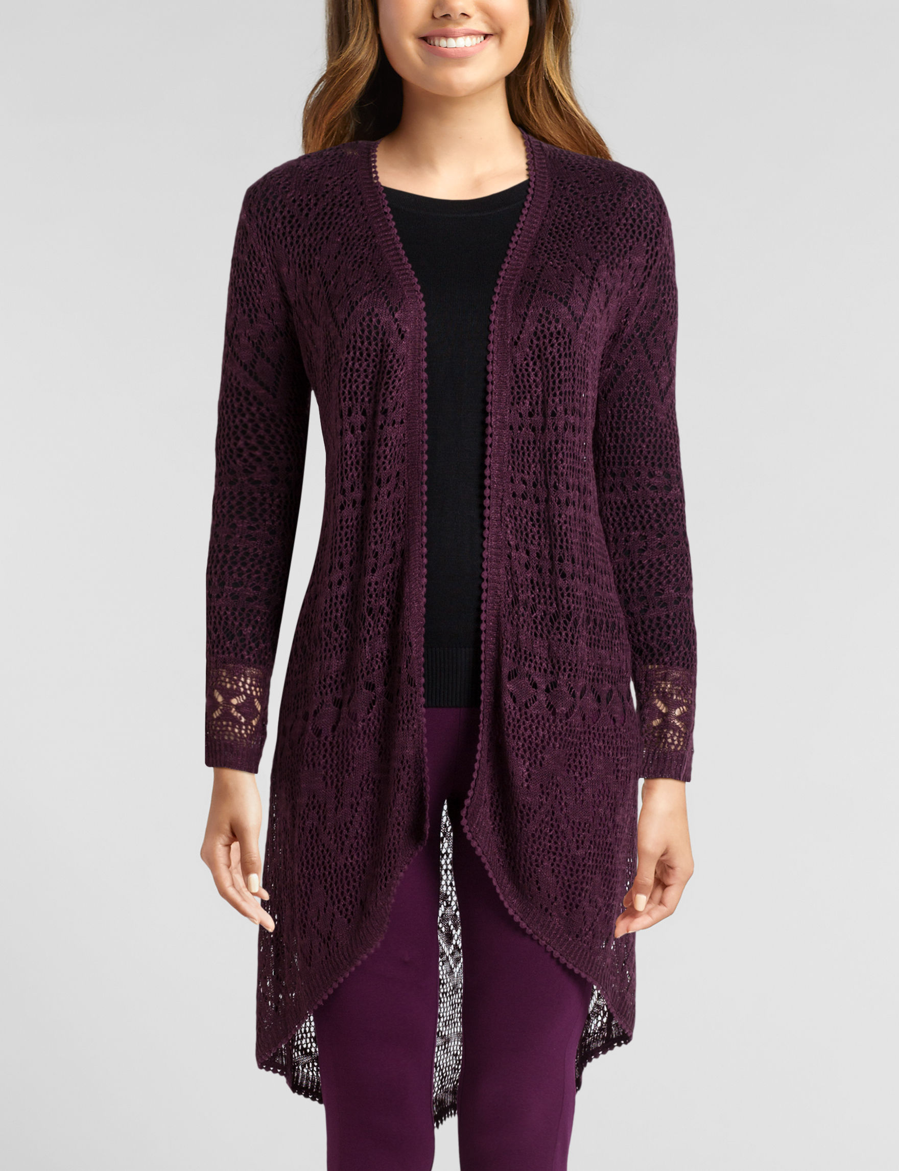 Almost Famous Burgundy Cardigans