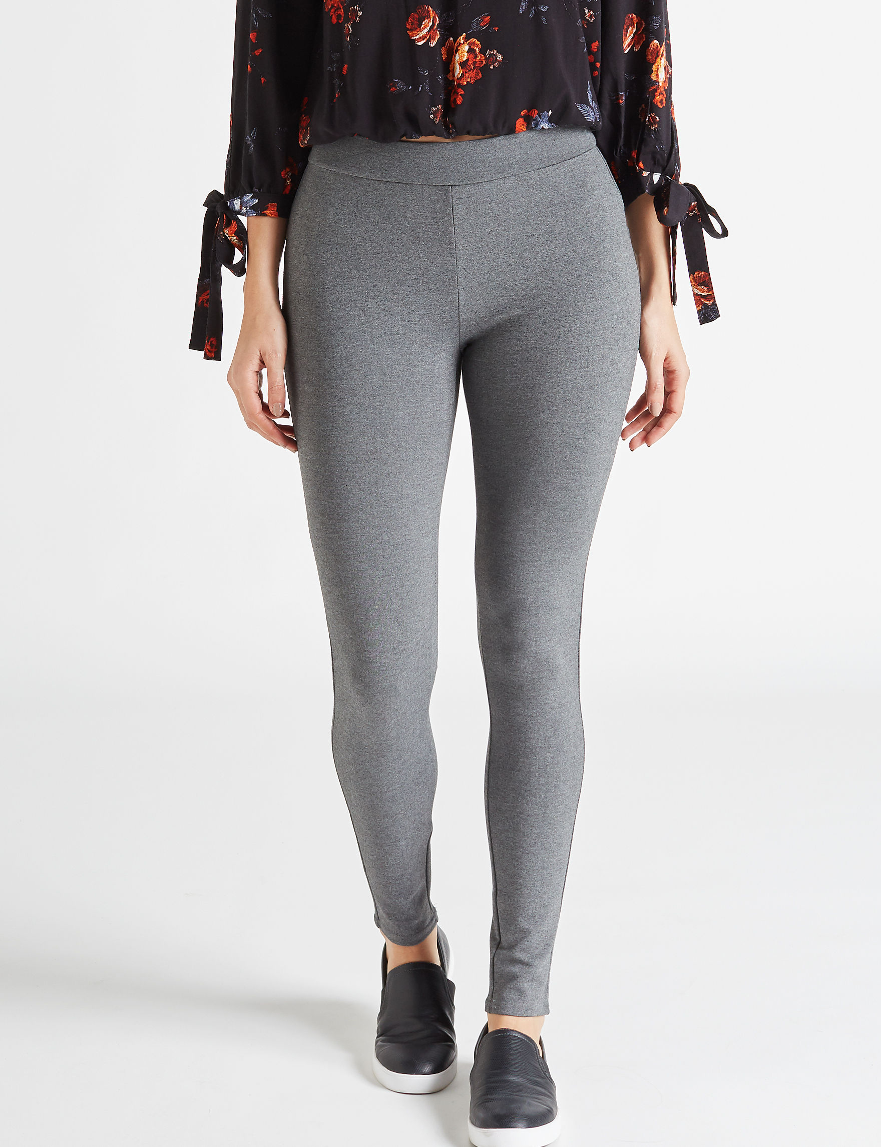 Almost Famous Charcoal Curvy Skinny Stretch
