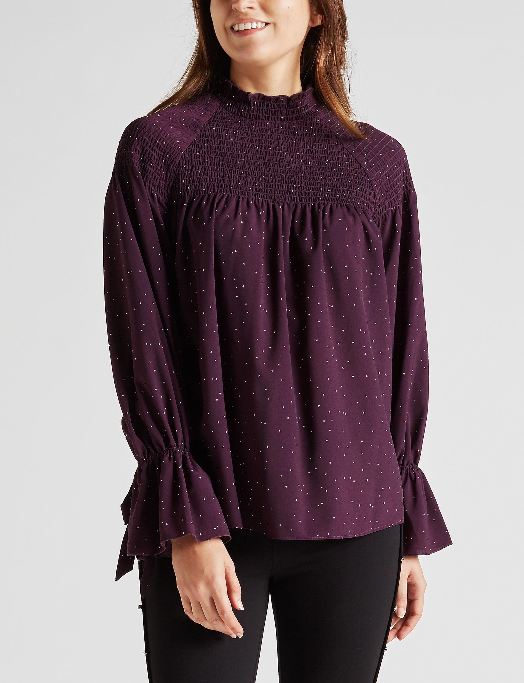 Kensie Purple Shirts & Blouses