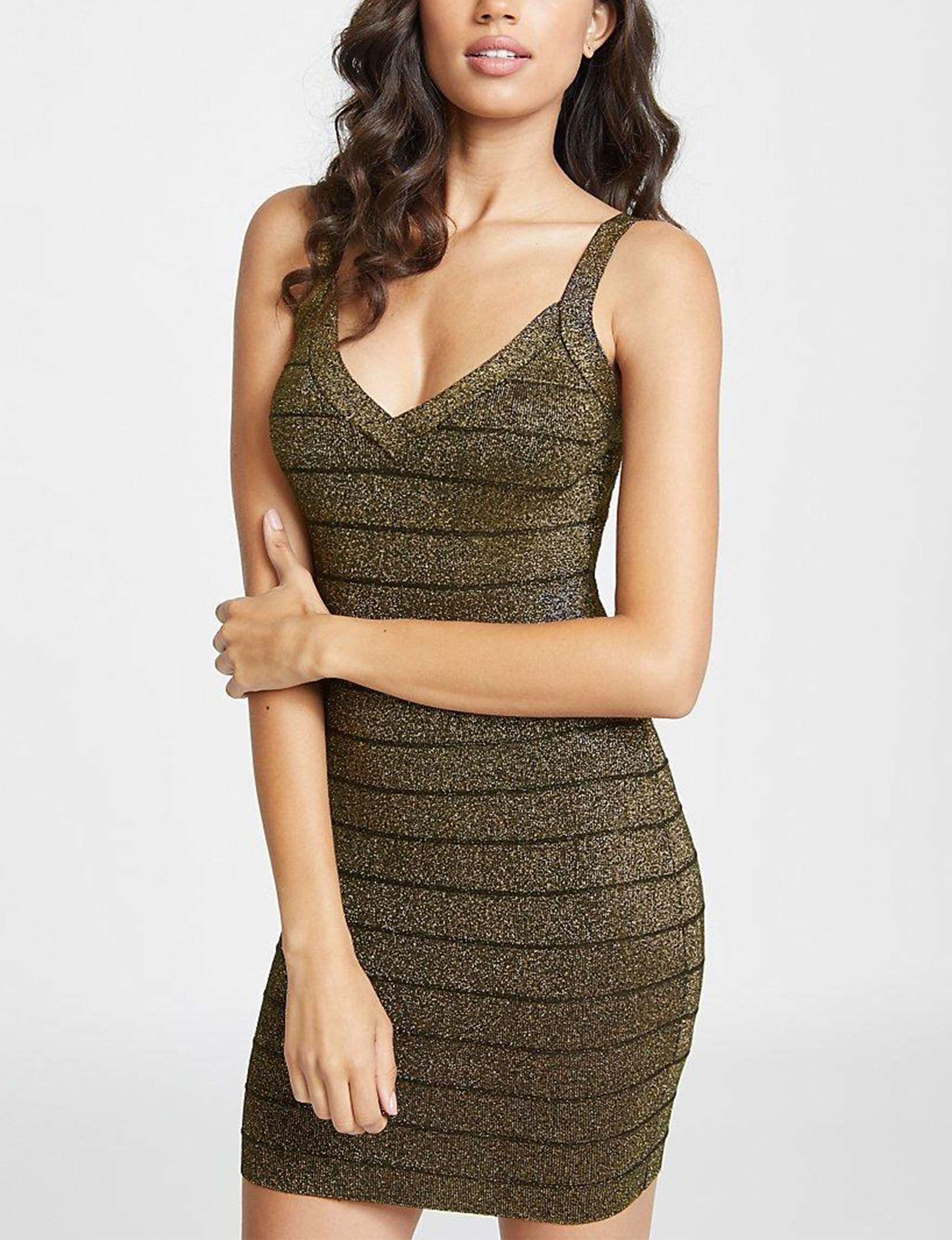 G by Guess Black / Gold Bodycon Dresses