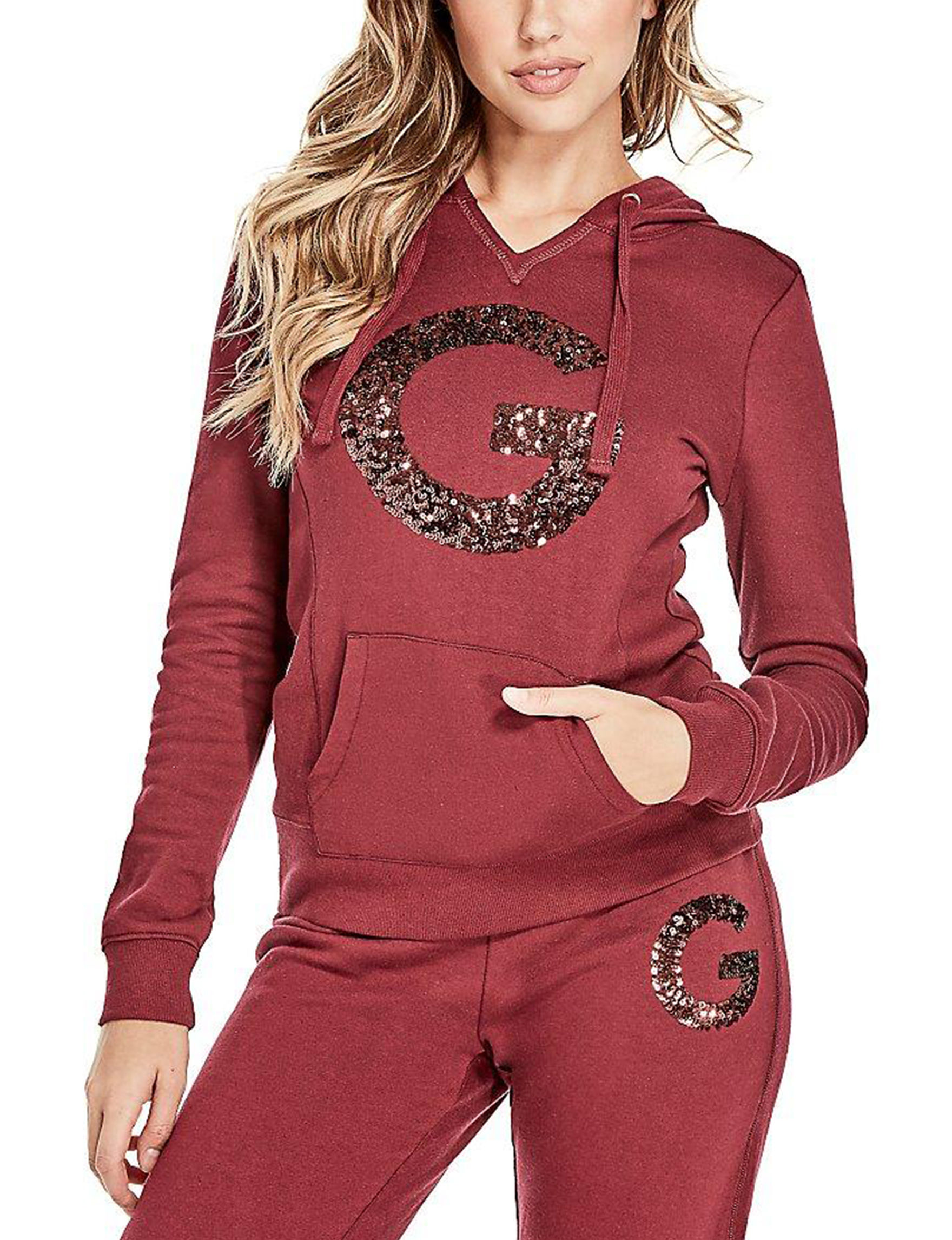 G by Guess Burgundy Pull-overs