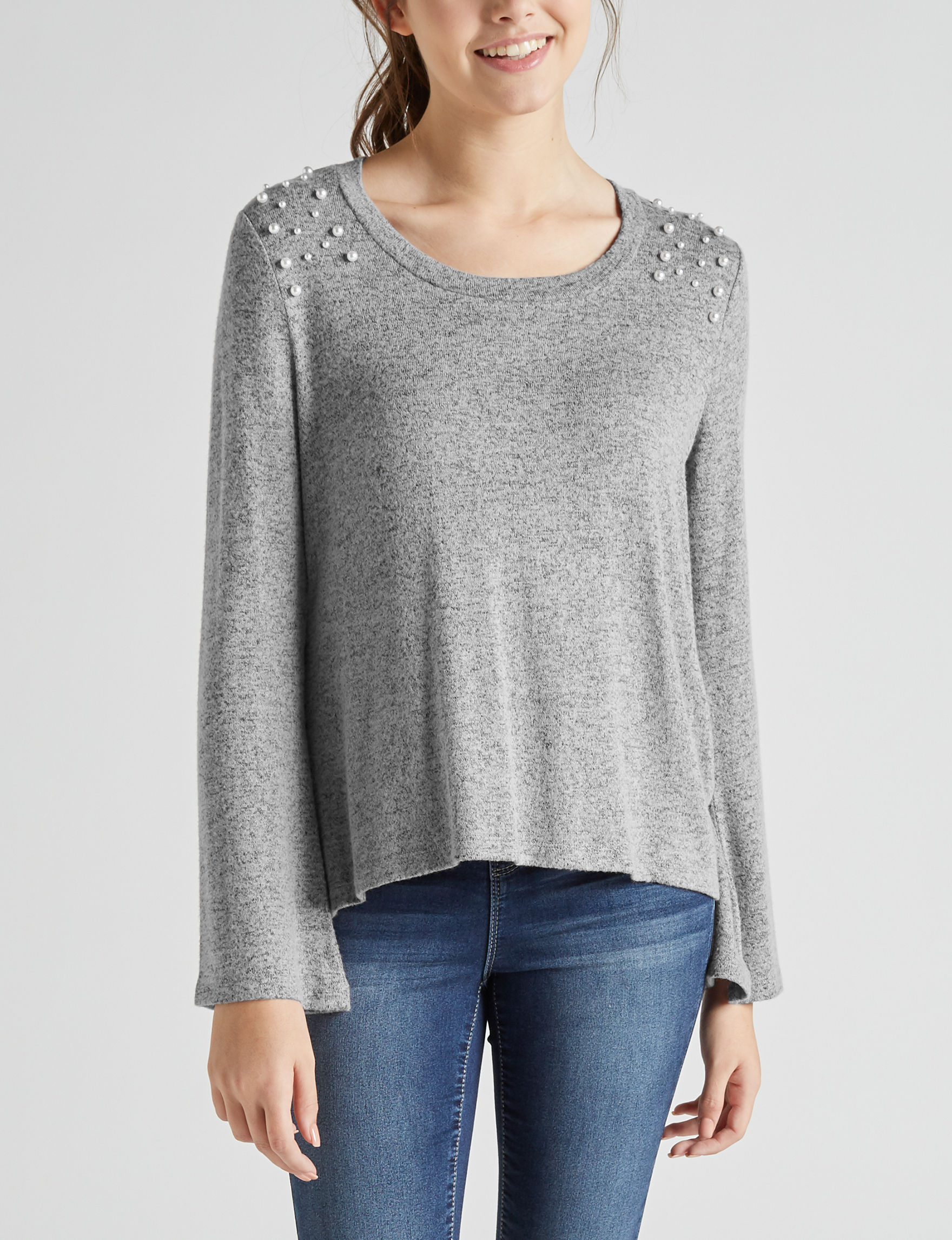 Liberty Love Heather Grey Shirts & Blouses