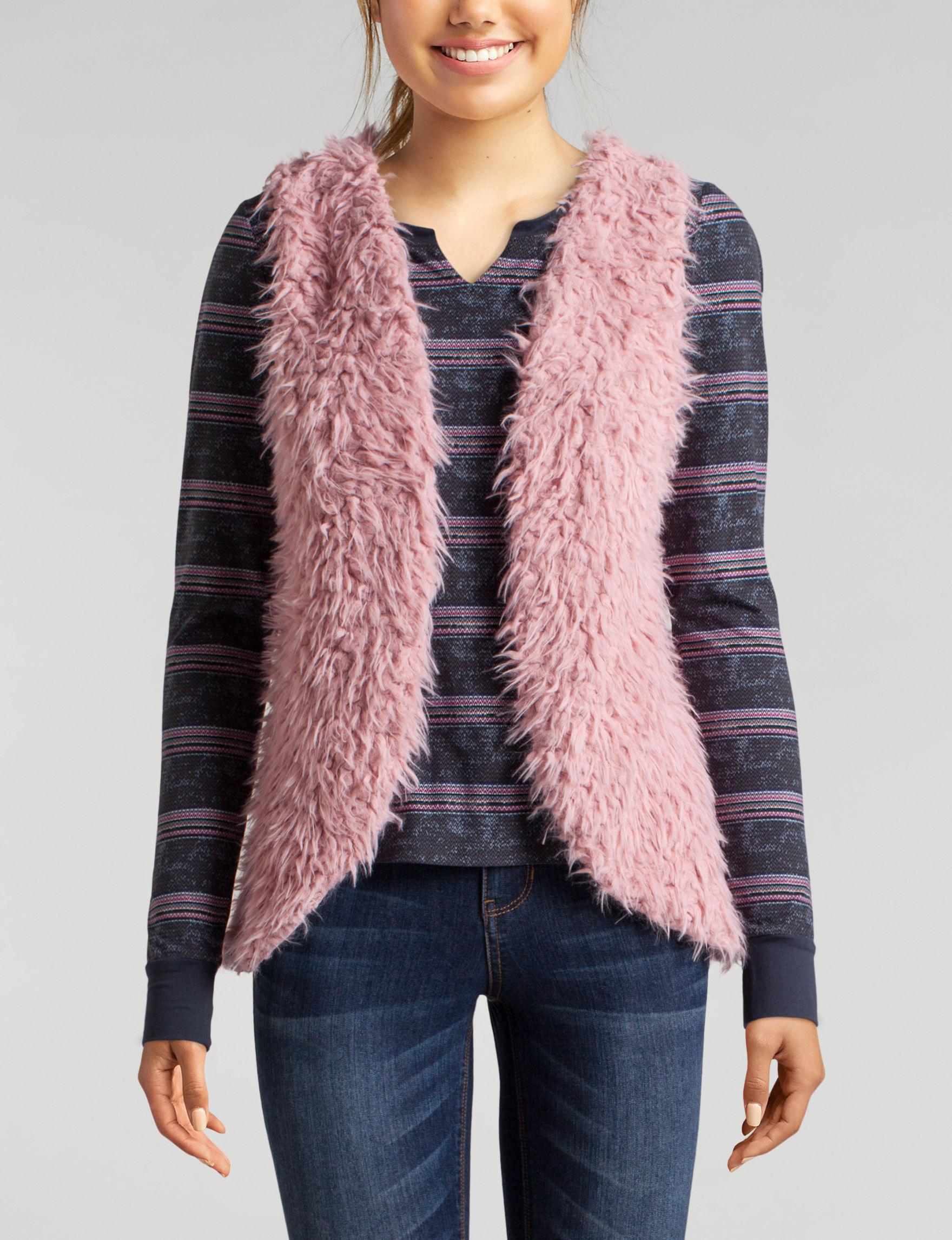 Self Esteem Rose Shirts & Blouses Vests