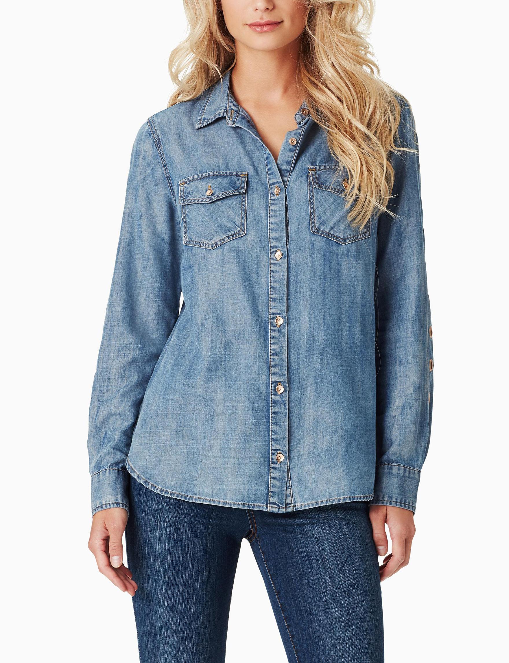 Jessica Simpson Blue Shirts & Blouses