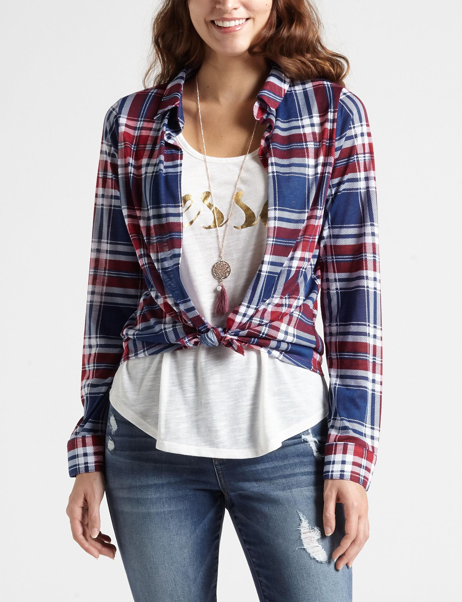 Self Esteem Navy Shirts & Blouses