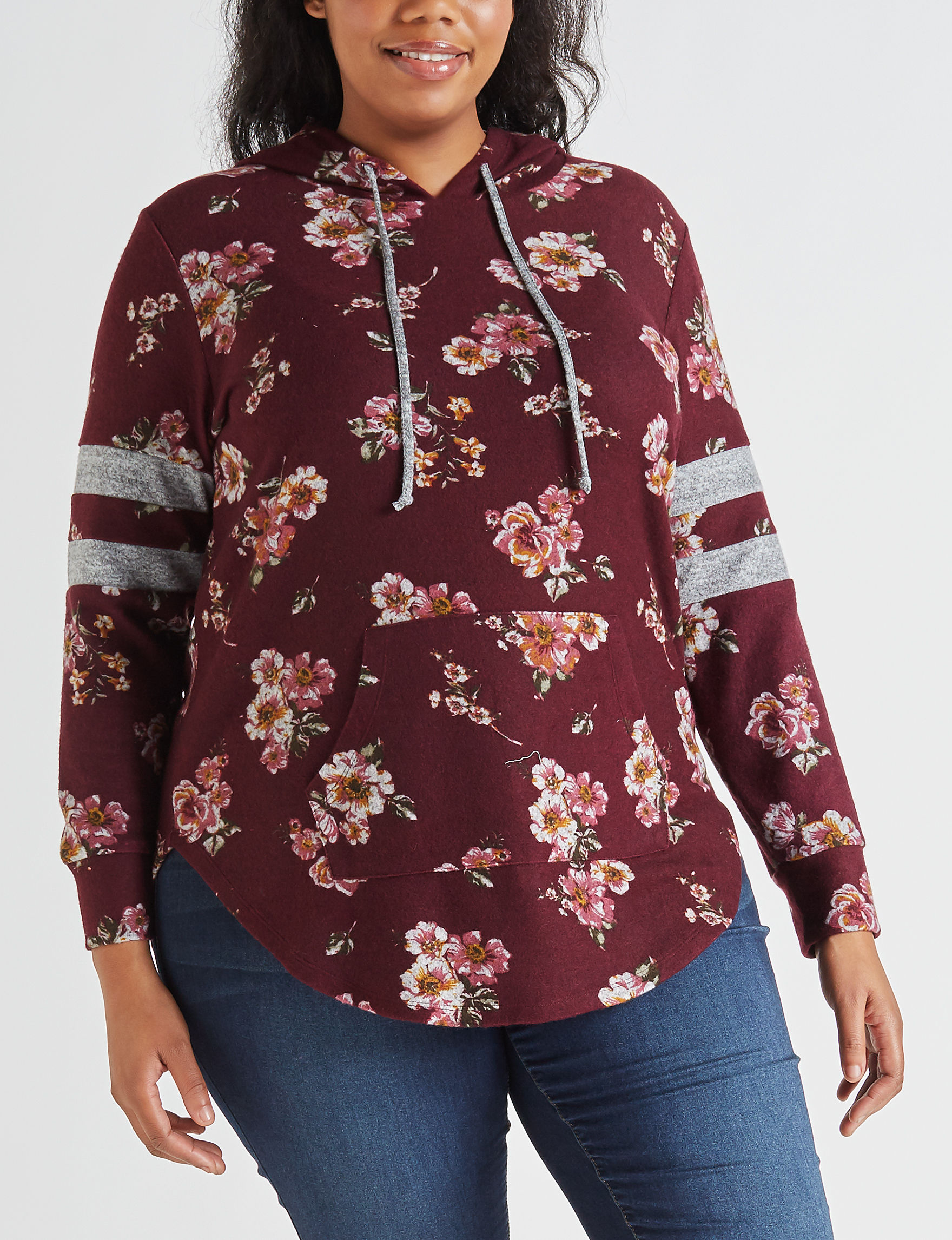 Almost Famous Burgundy Pull-overs