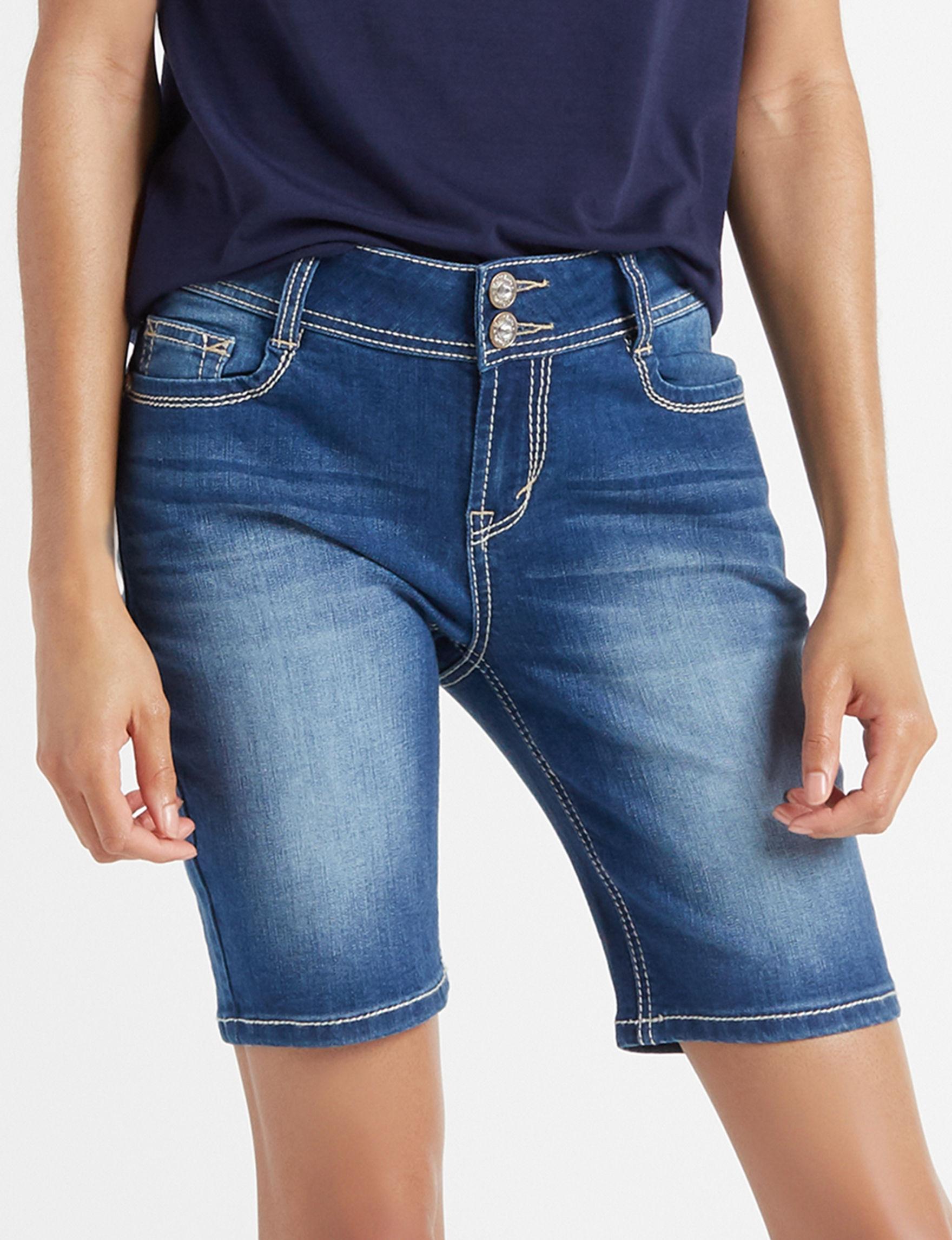 WallFlower Blue Bermudas Denim Shorts
