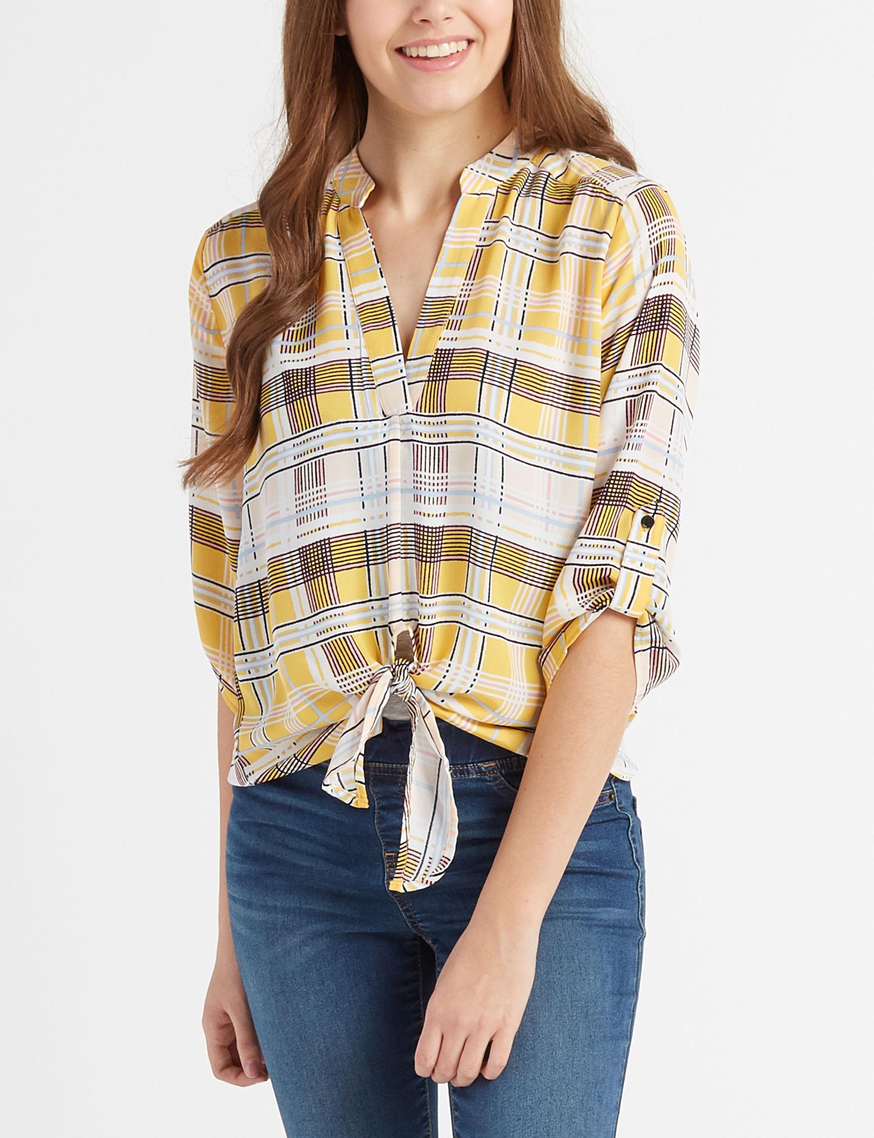 Liberty Love Yellow Multi Shirts & Blouses