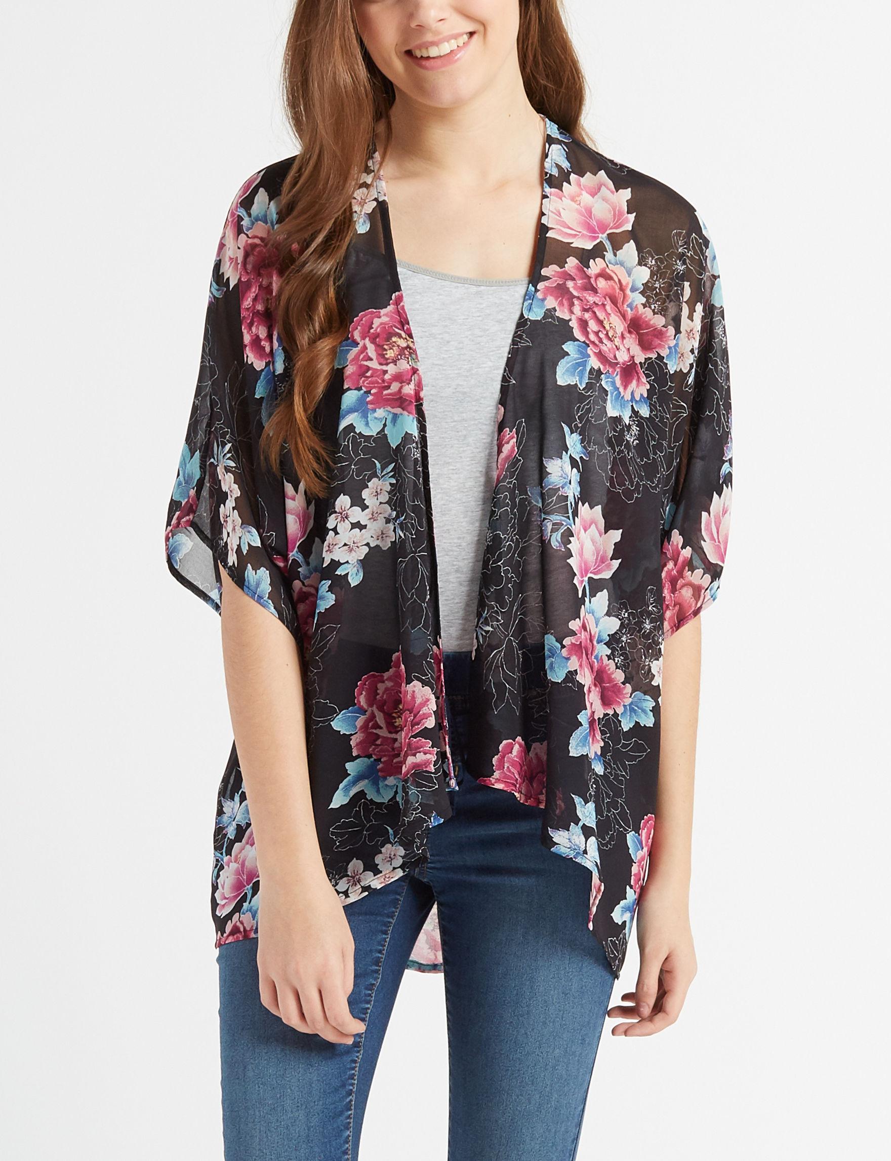 Liberty Love Black Floral Shirts & Blouses