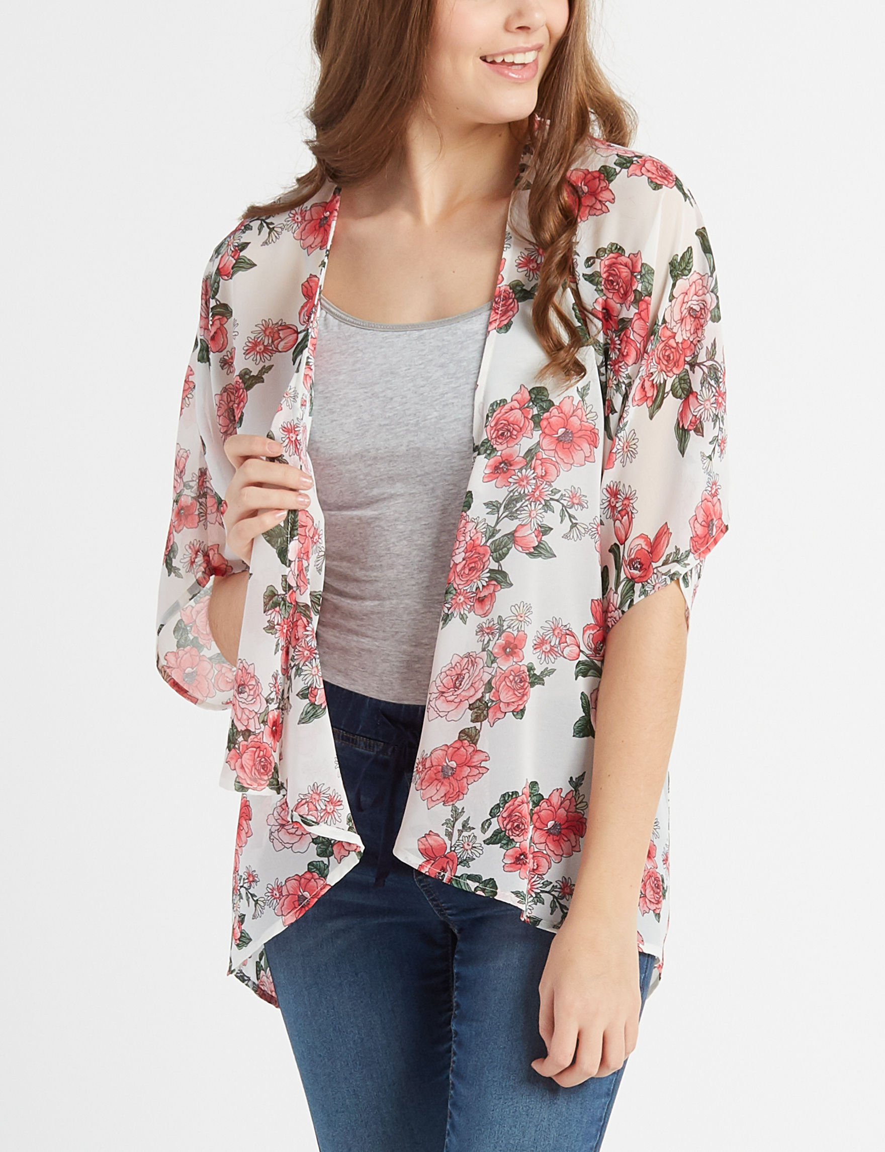 Liberty Love White Floral Shirts & Blouses