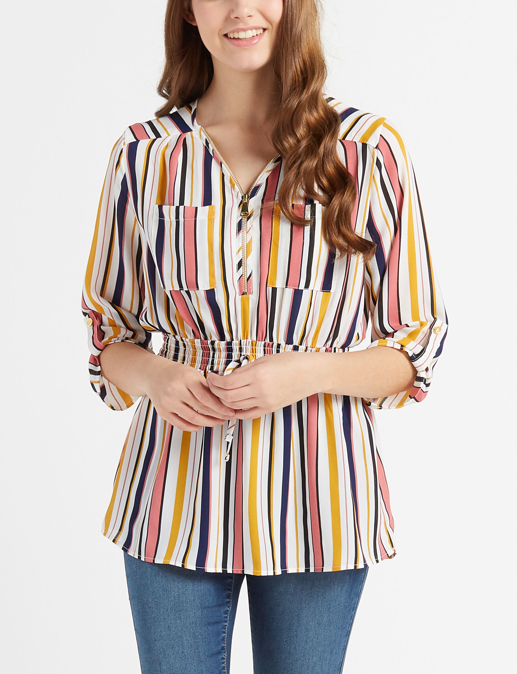 Justify Pink / Blue / Yellow Shirts & Blouses