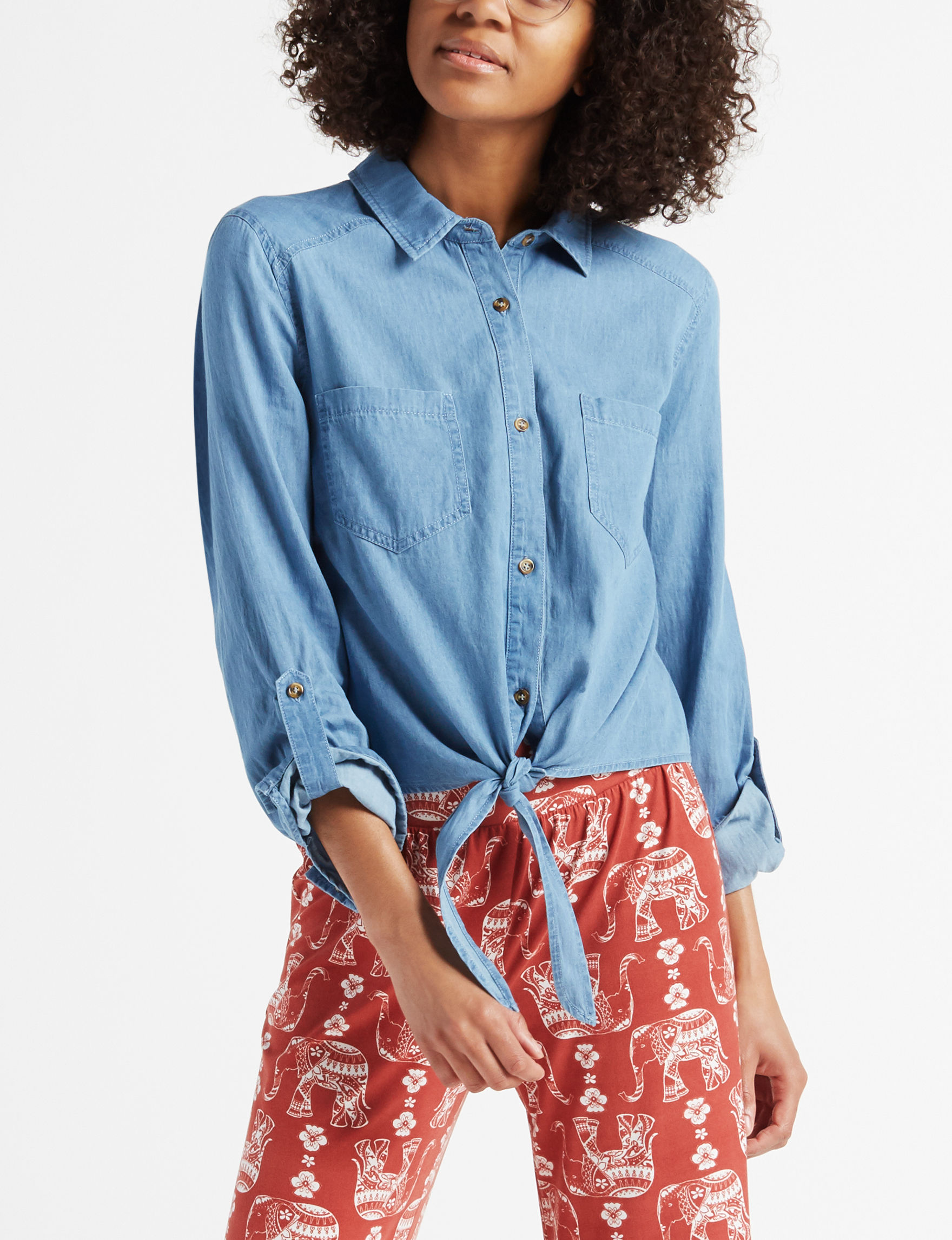 Justify Blue Shirts & Blouses