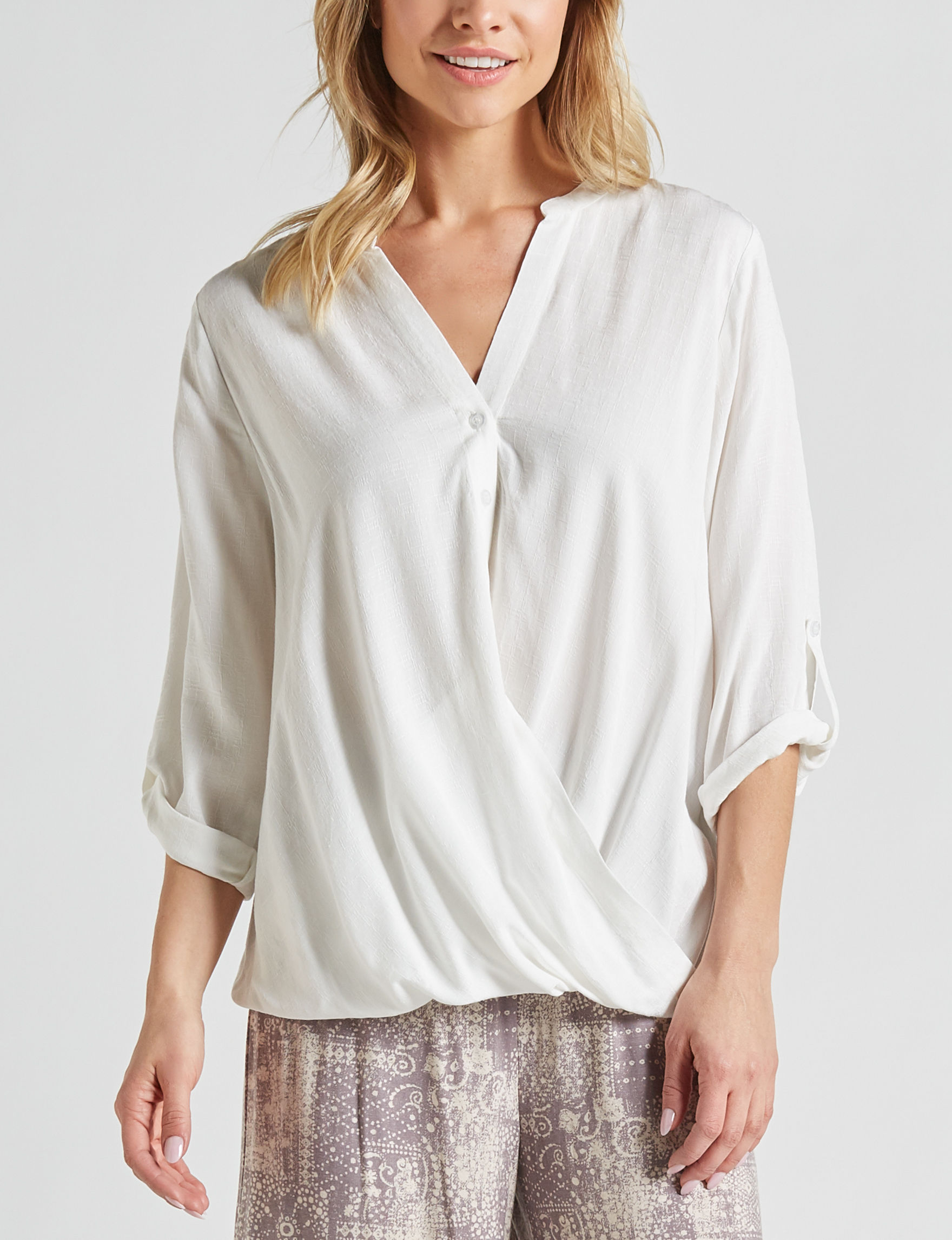 Signature Studio Women's Wrap Front Top | Stage Stores
