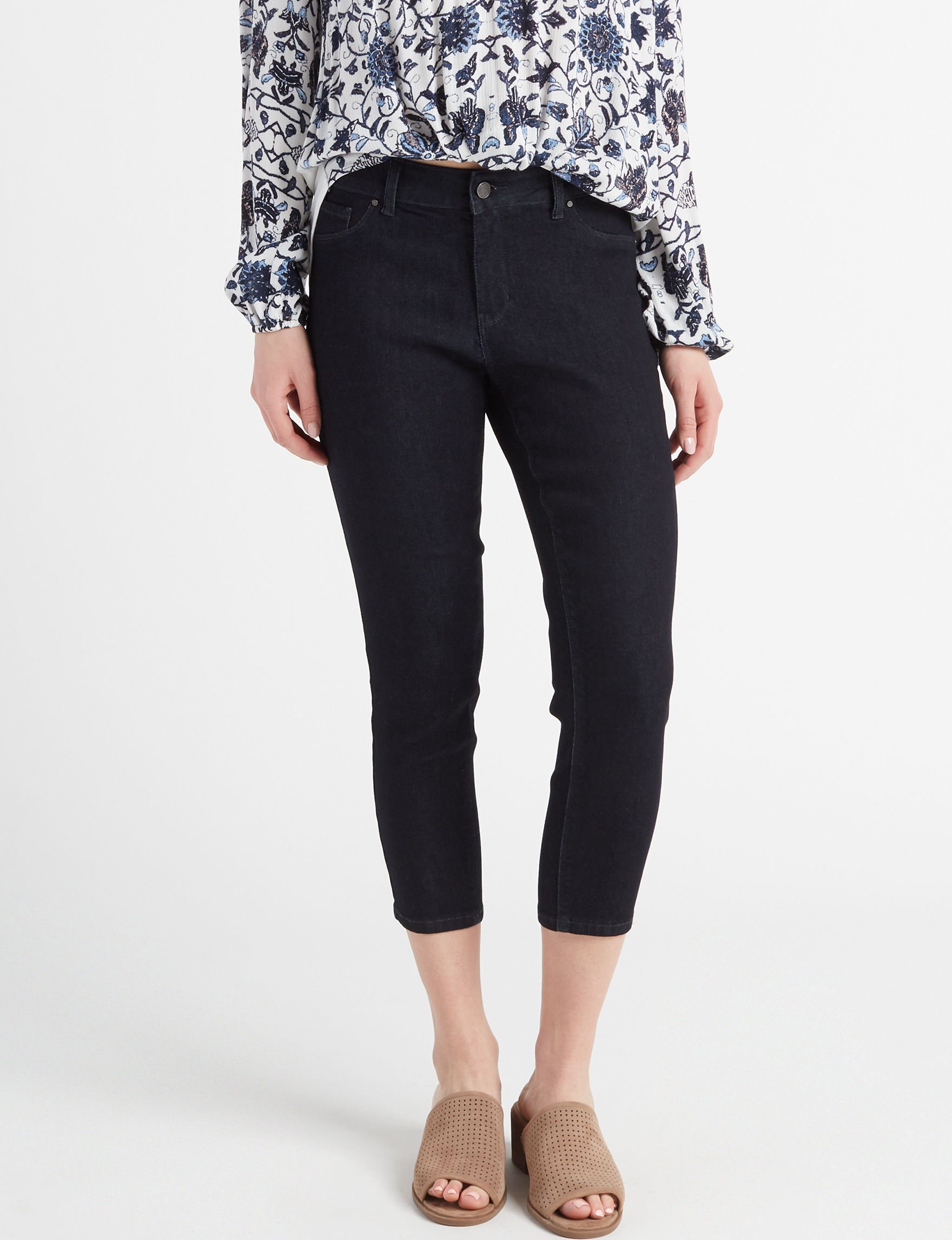 Signature Studio Dark Blue Capris & Crops