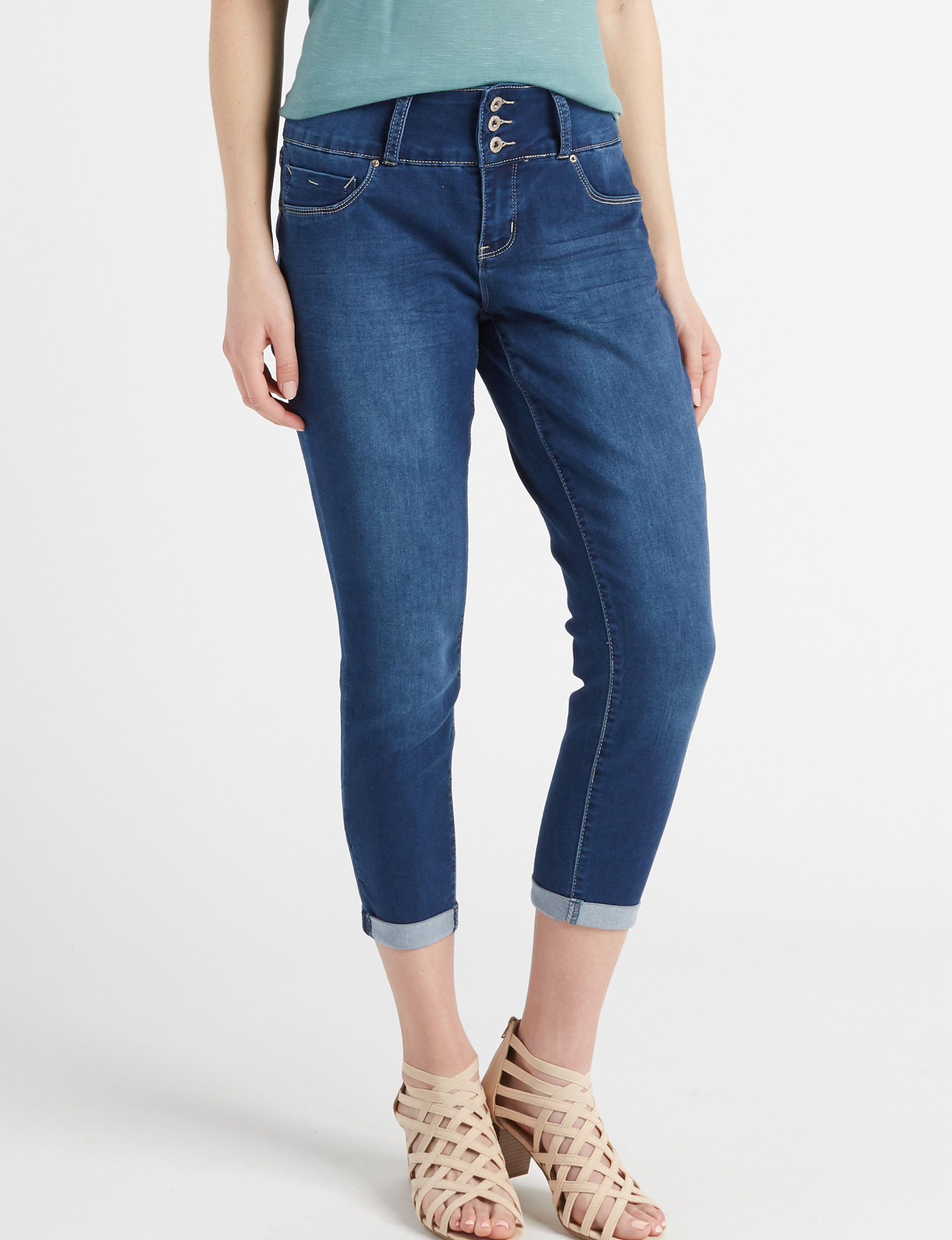 Signature Studio Dark Denim Capris & Crops