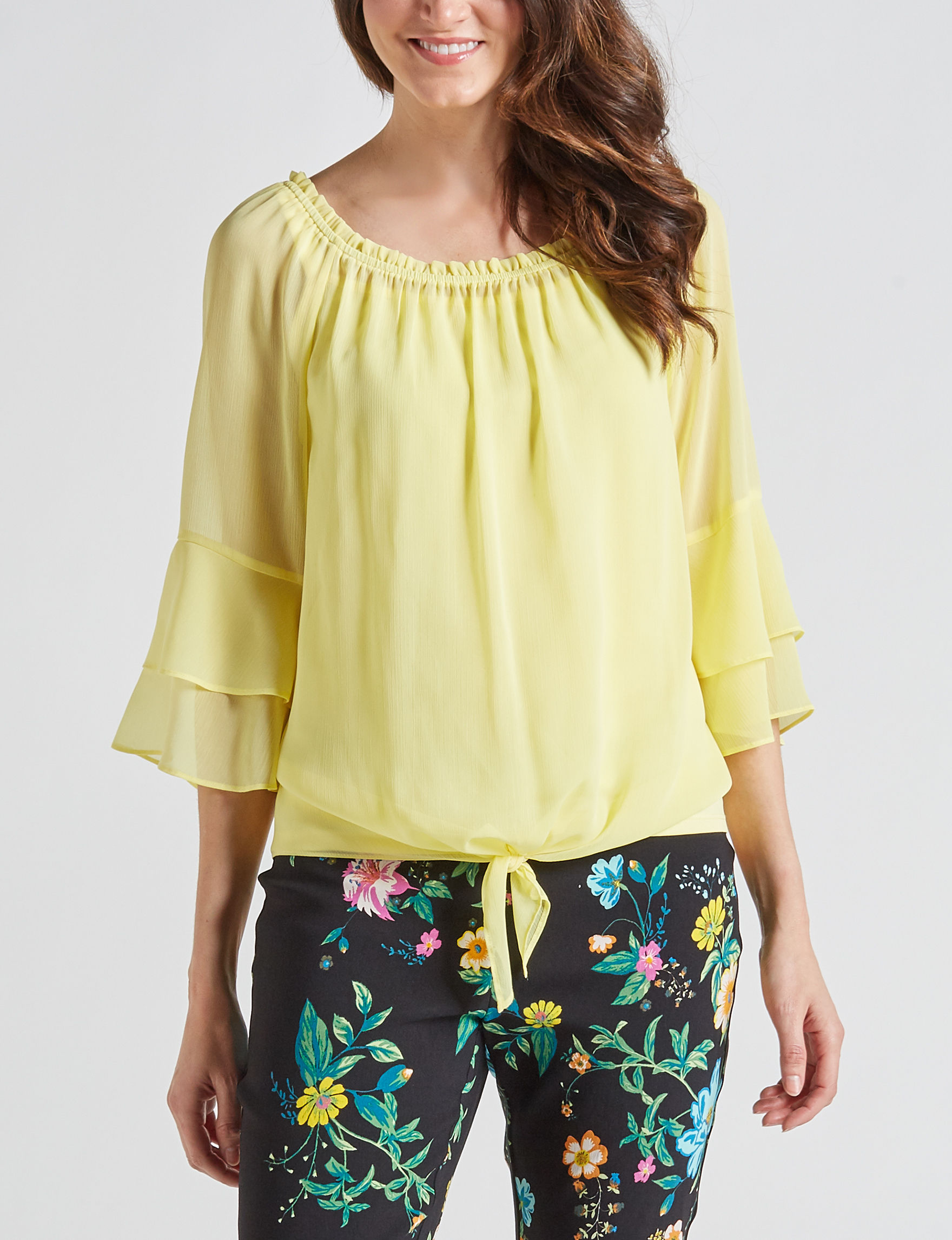 AGB Yellow Shirts & Blouses
