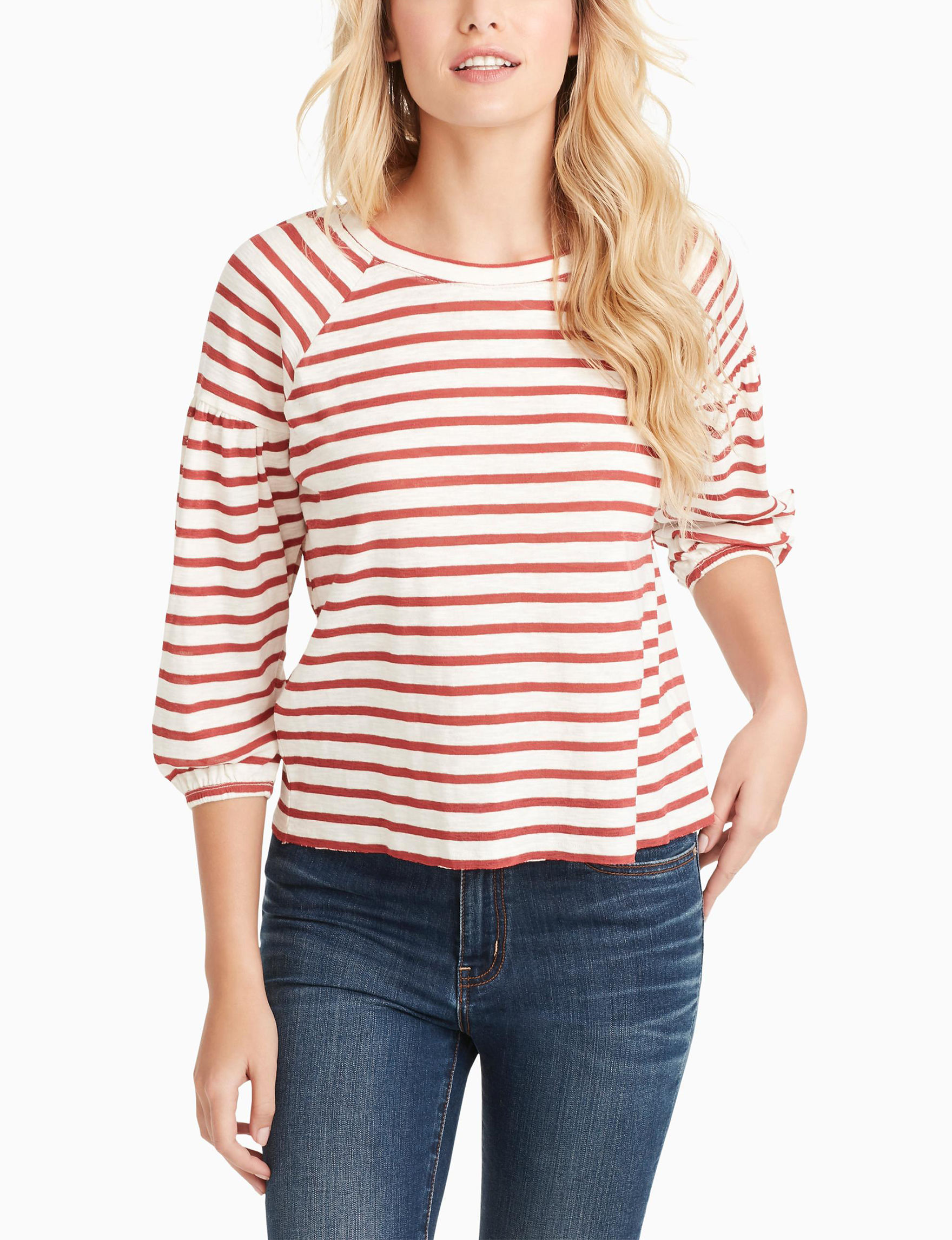 Jessica Simpson Off White / Red Shirts & Blouses