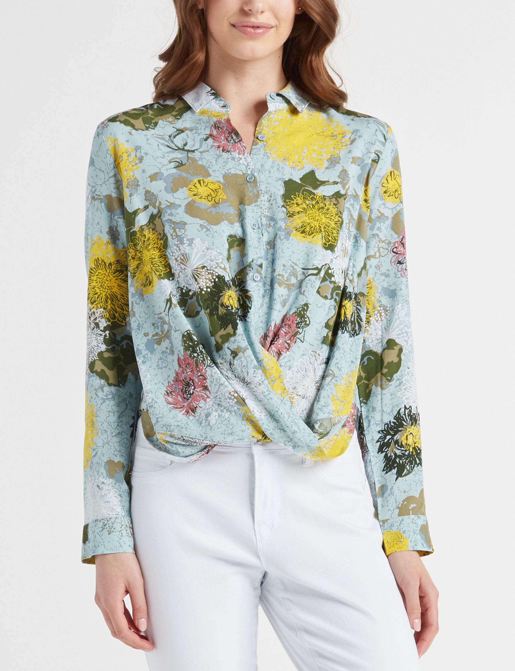 Signature Studio Blue / Yellow Shirts & Blouses