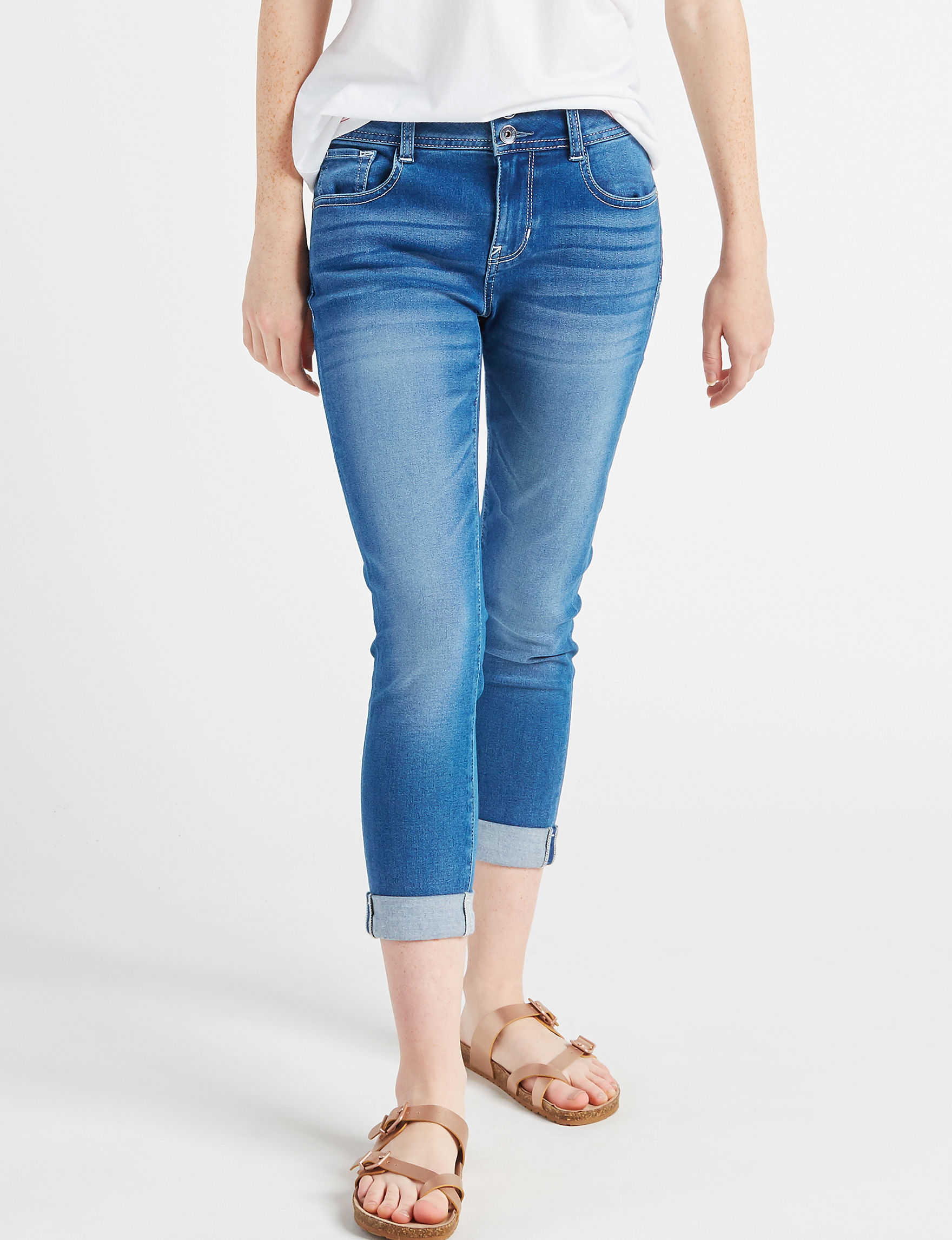 WallFlower Blue Capris & Crops Skinny