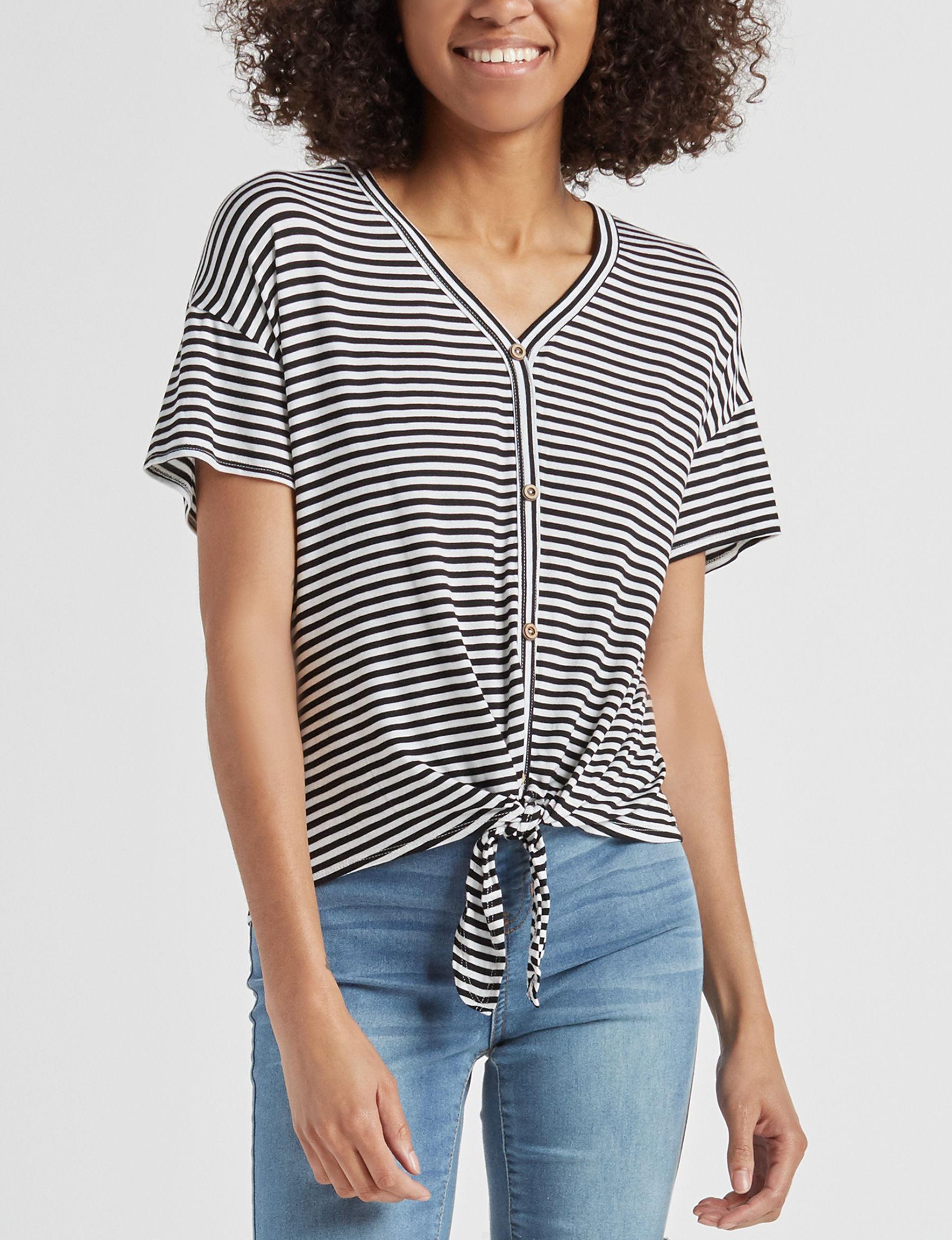 Liberty Love Black / White Shirts & Blouses