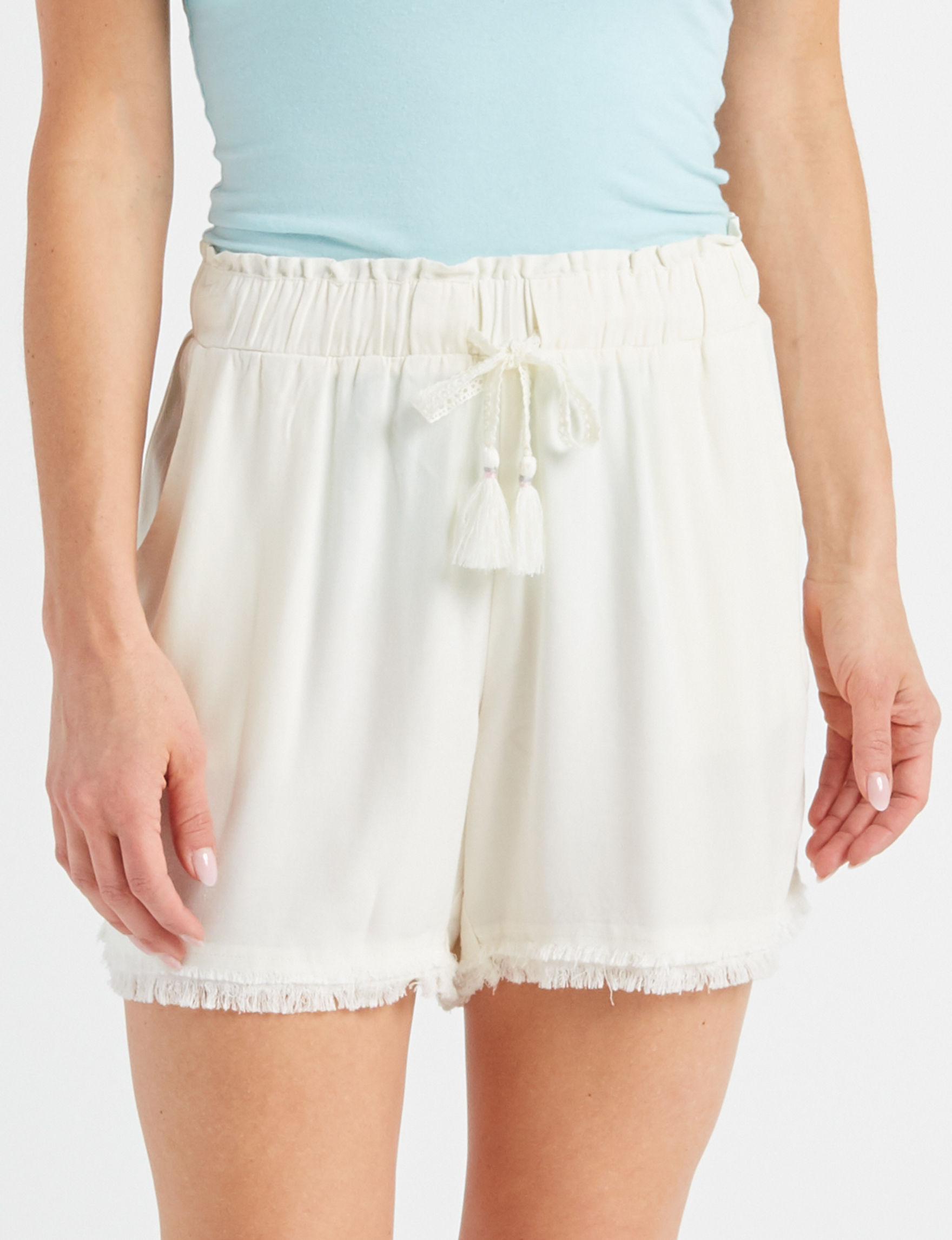 Signature Studio White Soft Shorts