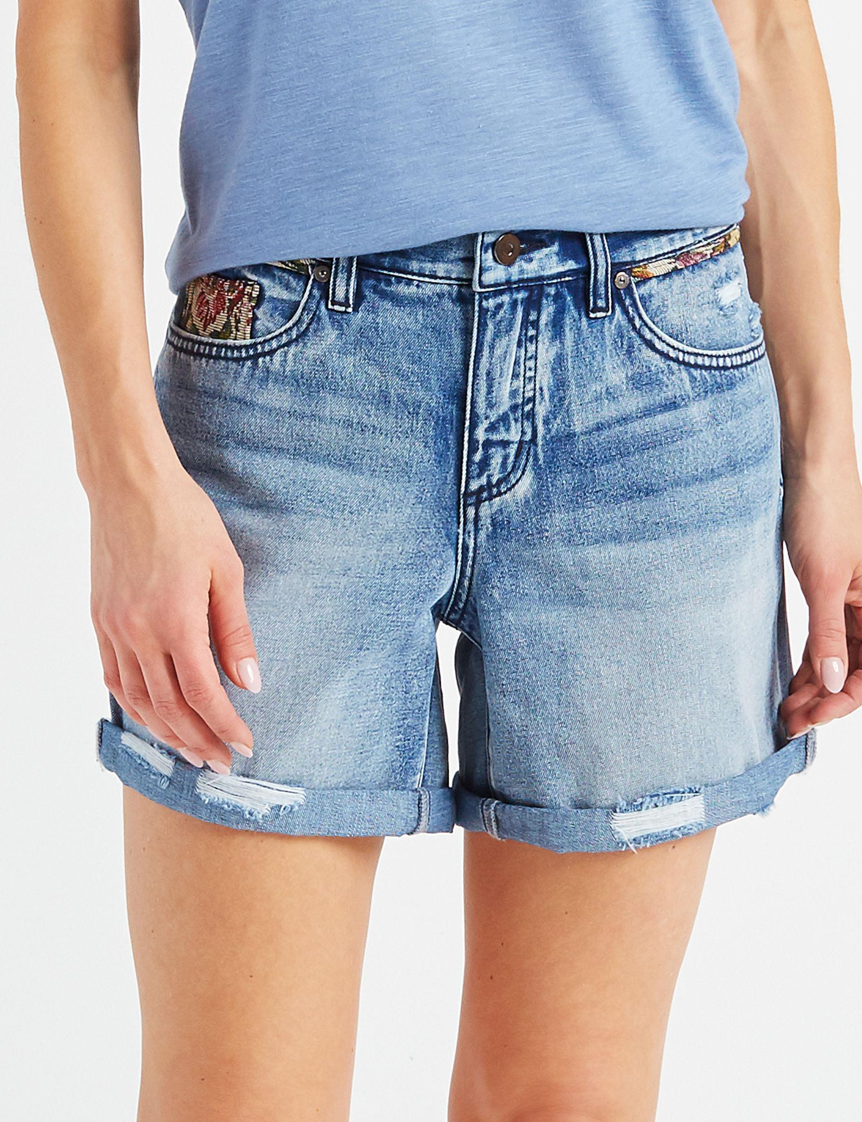 Signature Studio Dark Blue Denim Shorts