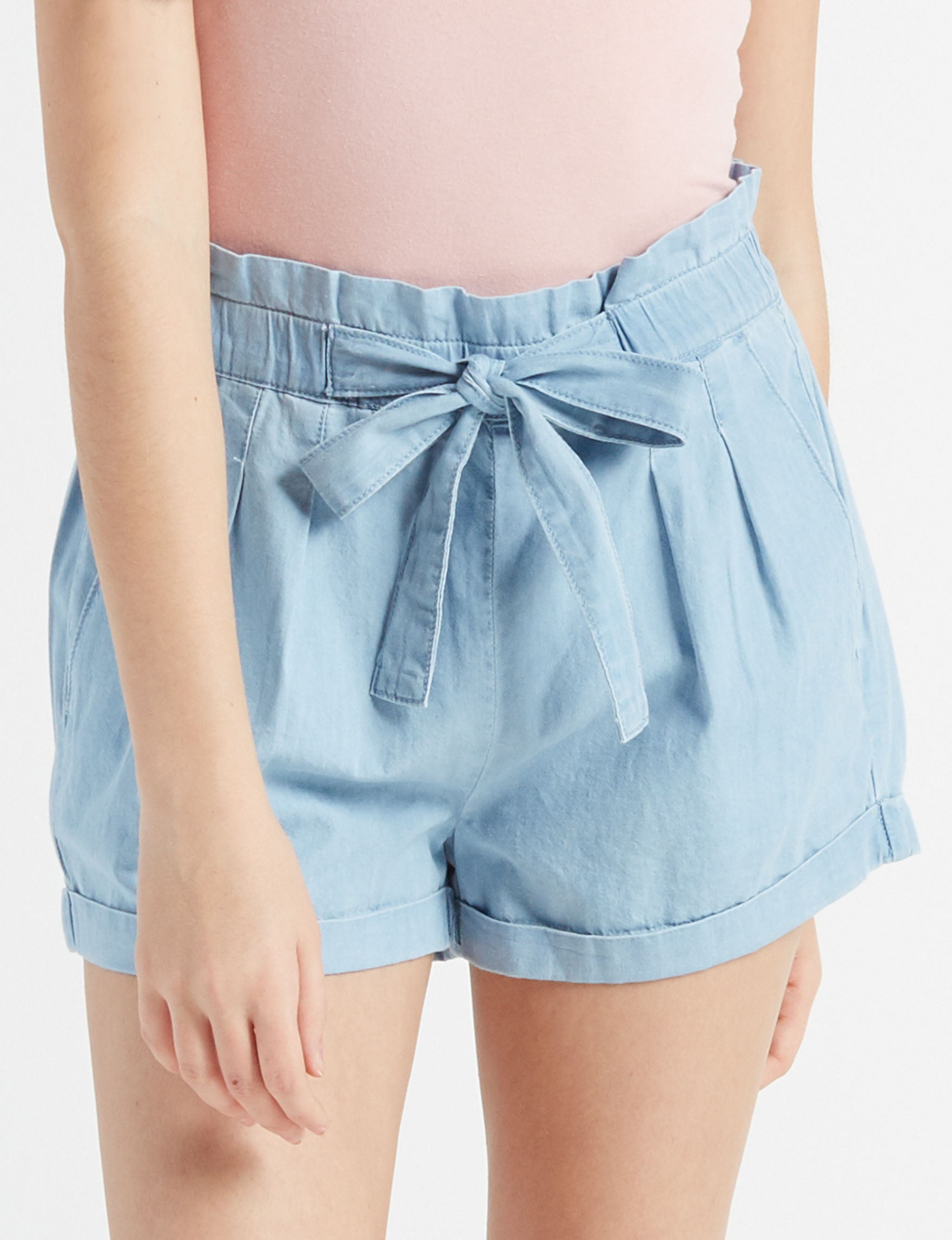 Almost Famous Light Blue Soft Shorts