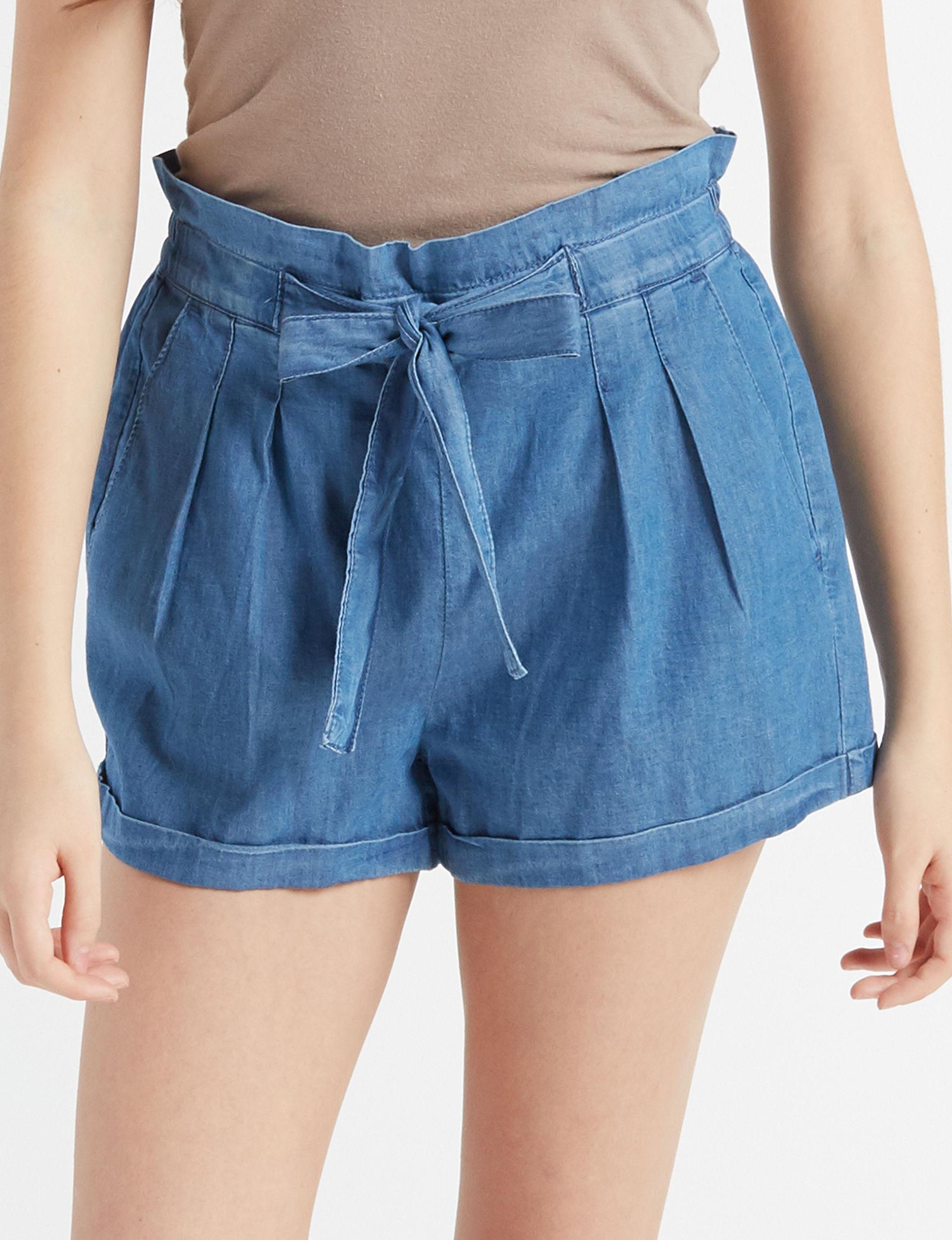 Almost Famous Medium Blue Soft Shorts