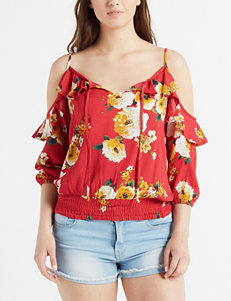 faaace6f8d099  19.98. 0.0 out of 5 stars. Spot on Value! Wishful Park Juniors  Floral Cold  Shoulder Smocked Top