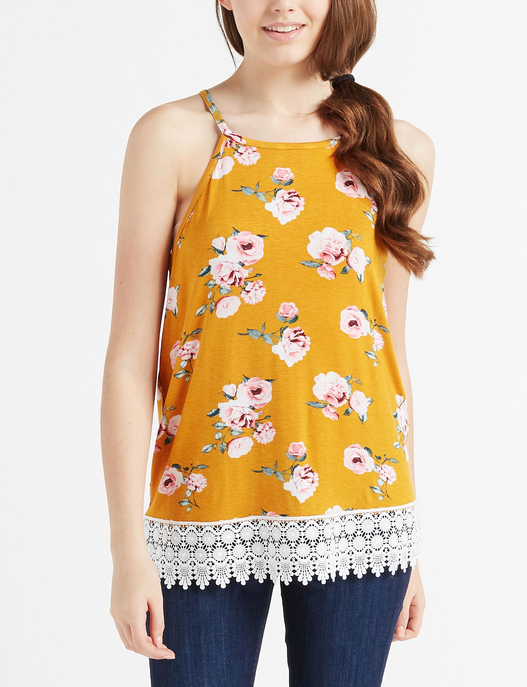 Wishful Park Mustard Floral Shirts & Blouses