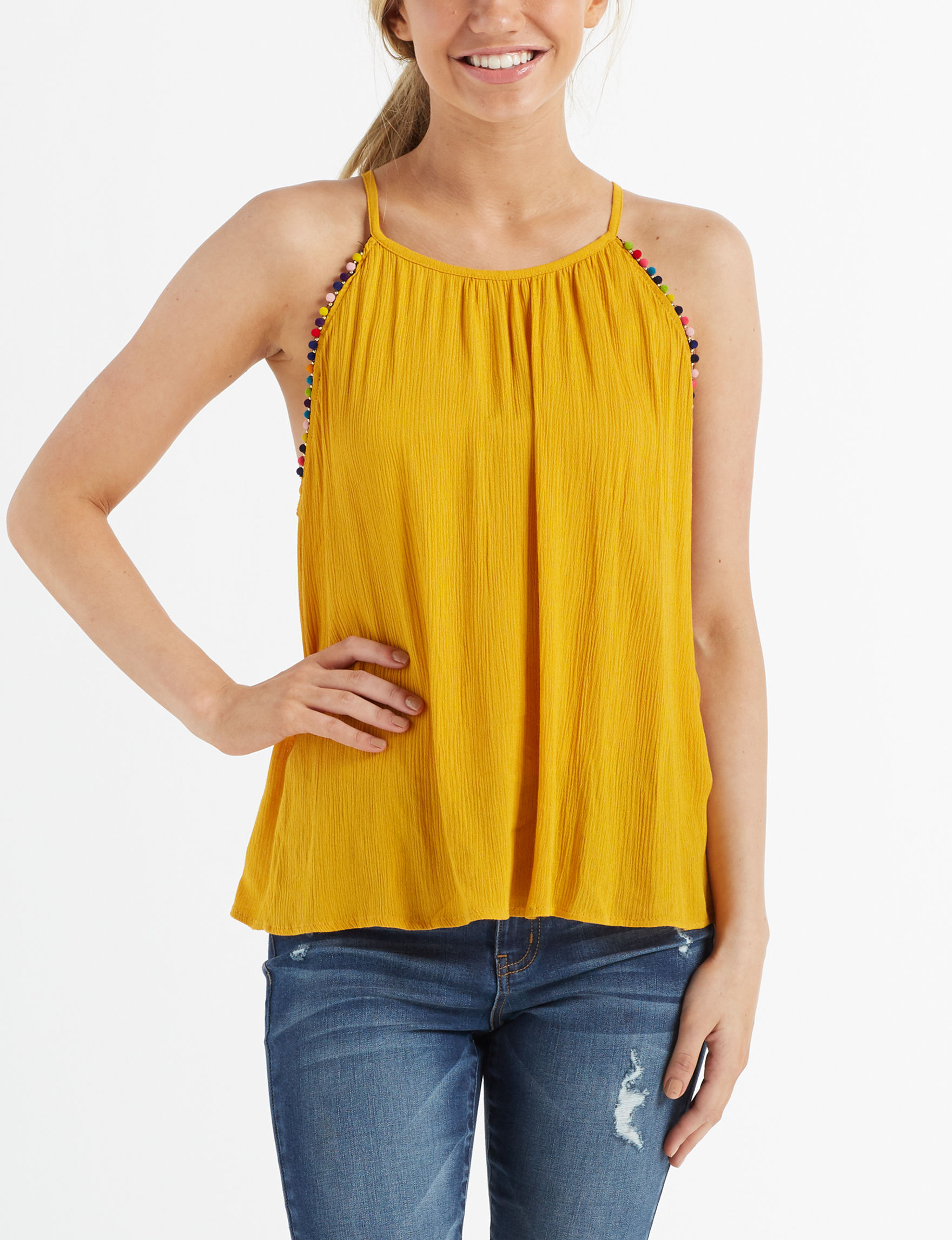 Eyeshadow Yellow Tees & Tanks