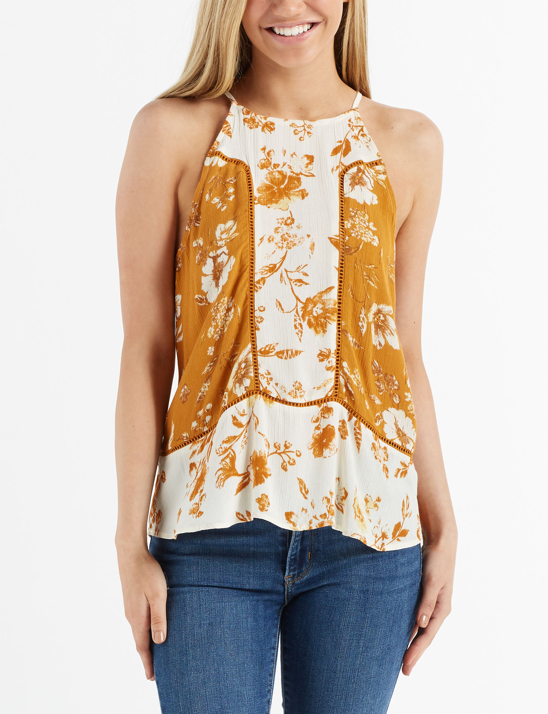 Eyeshadow Mustard Tees & Tanks