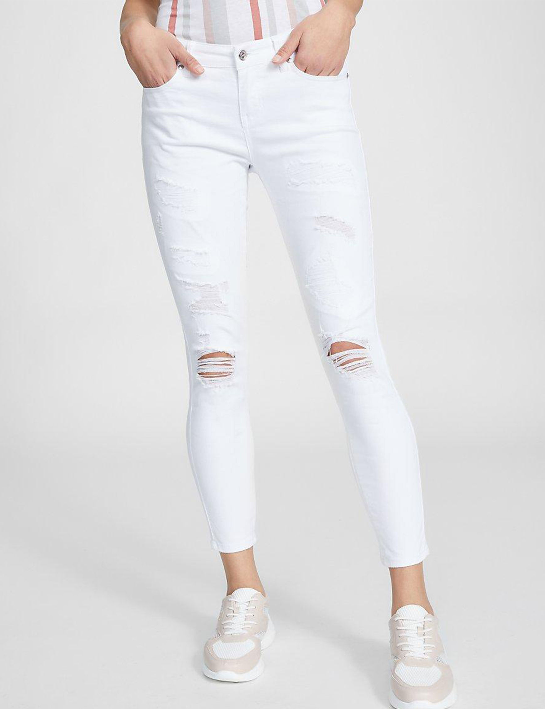 G by Guess White Skinny