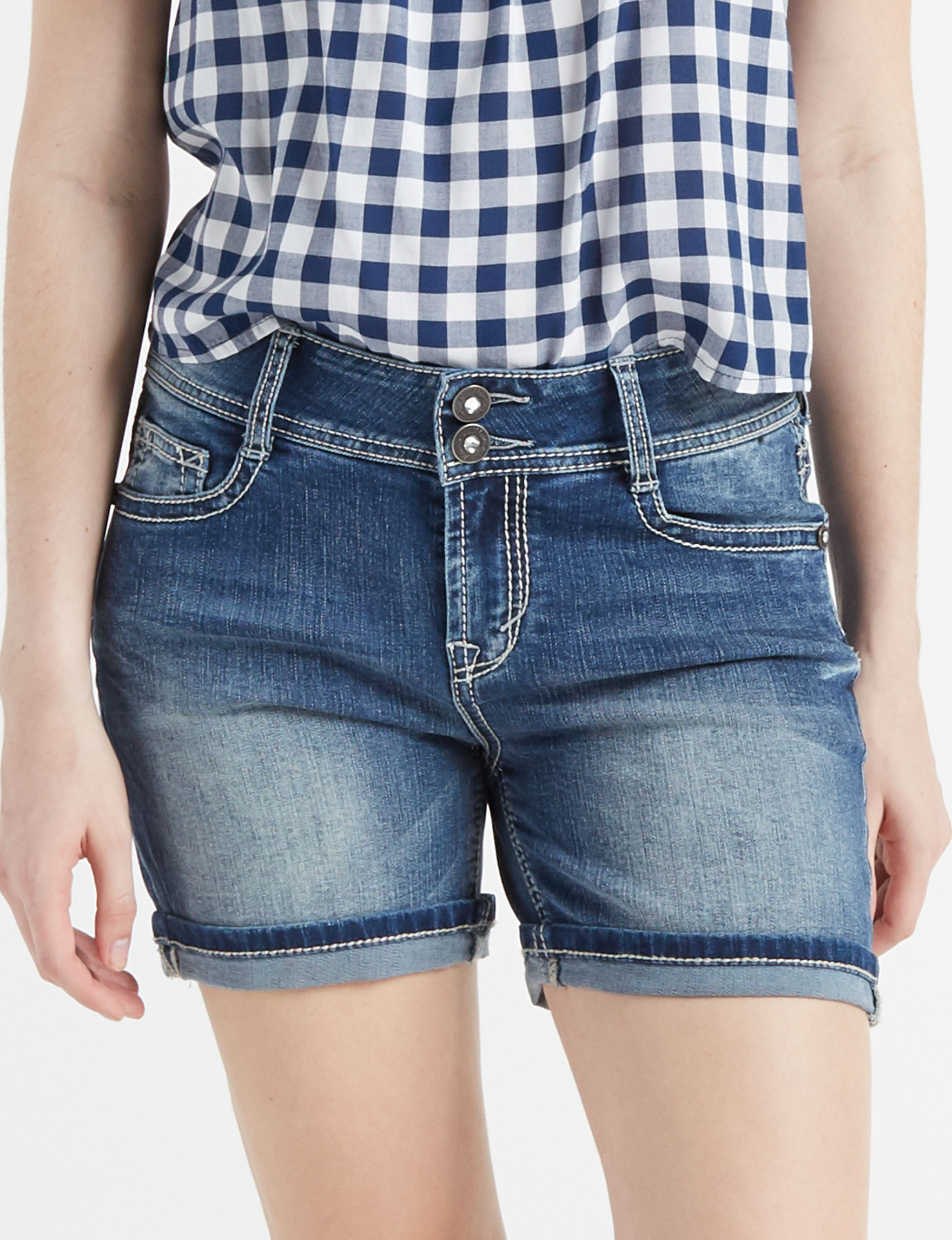 WallFlower Light Blue Denim Shorts