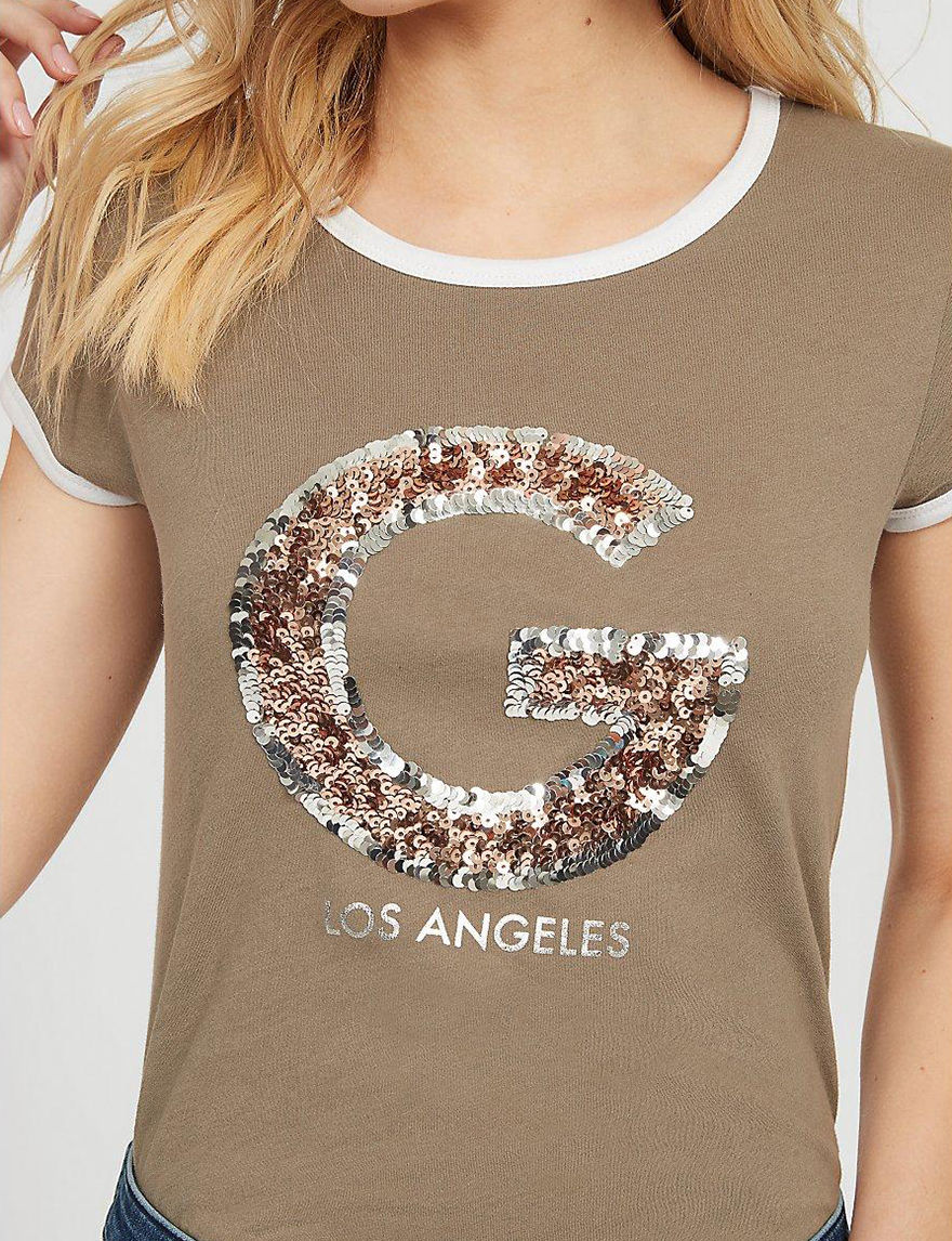 G by Guess Olive Tees & Tanks