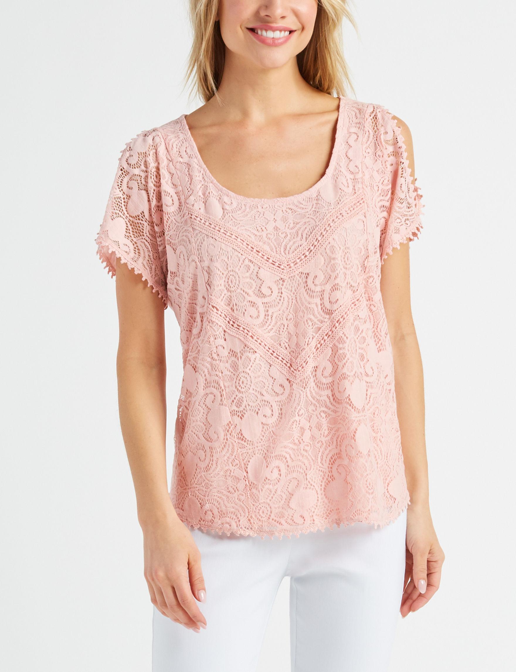 Signature Studio Blush Shirts & Blouses