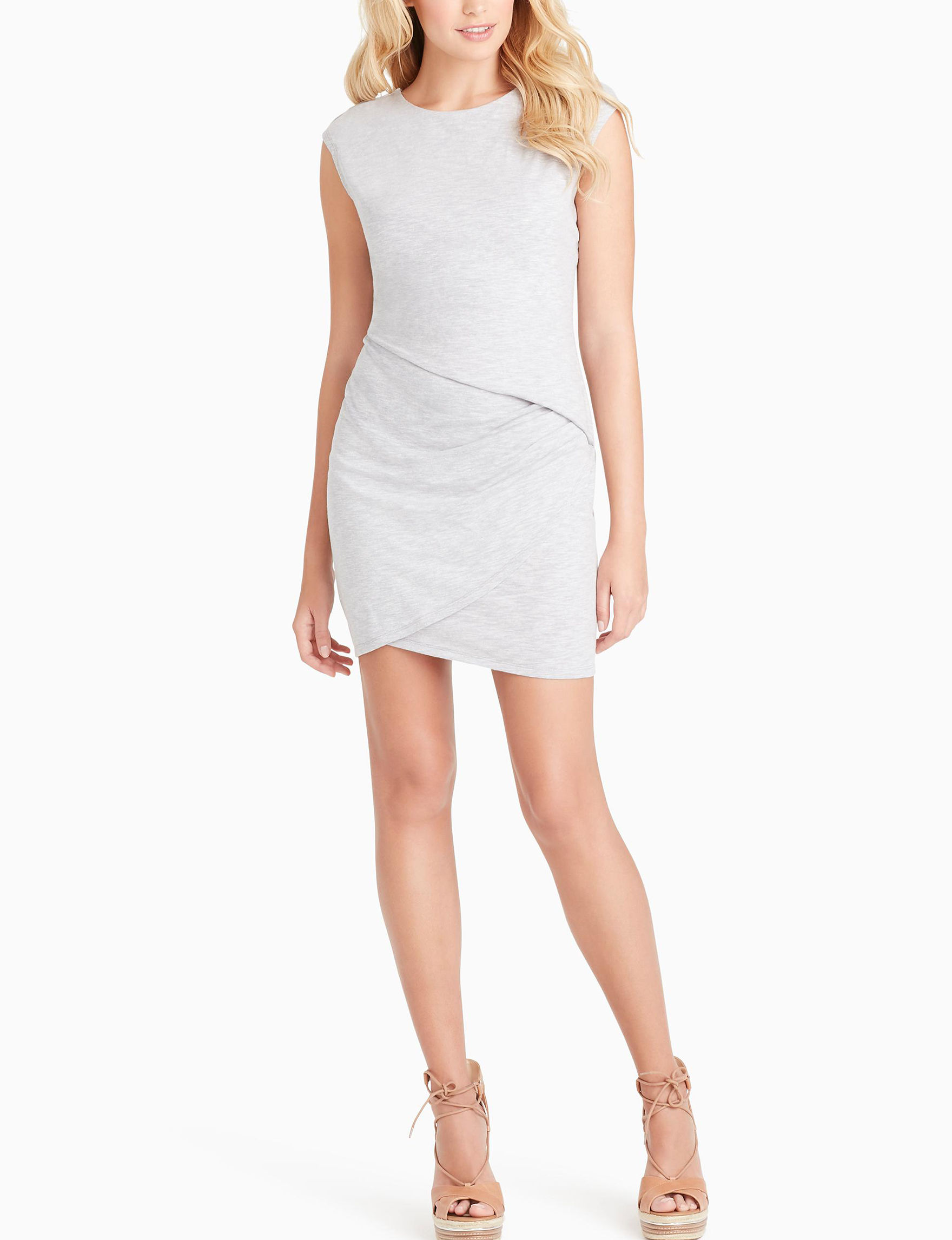 Jessica Simpson Grey Heather Everyday & Casual Bodycon Dresses