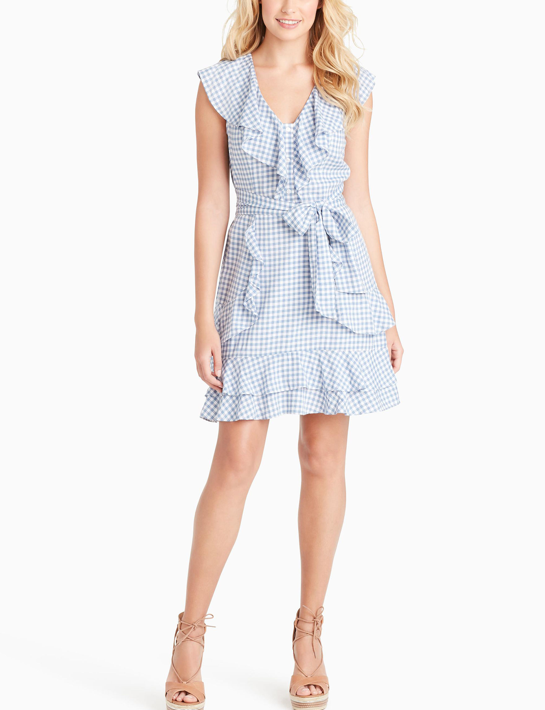 Jessica Simpson Blue Gingham Everyday & Casual