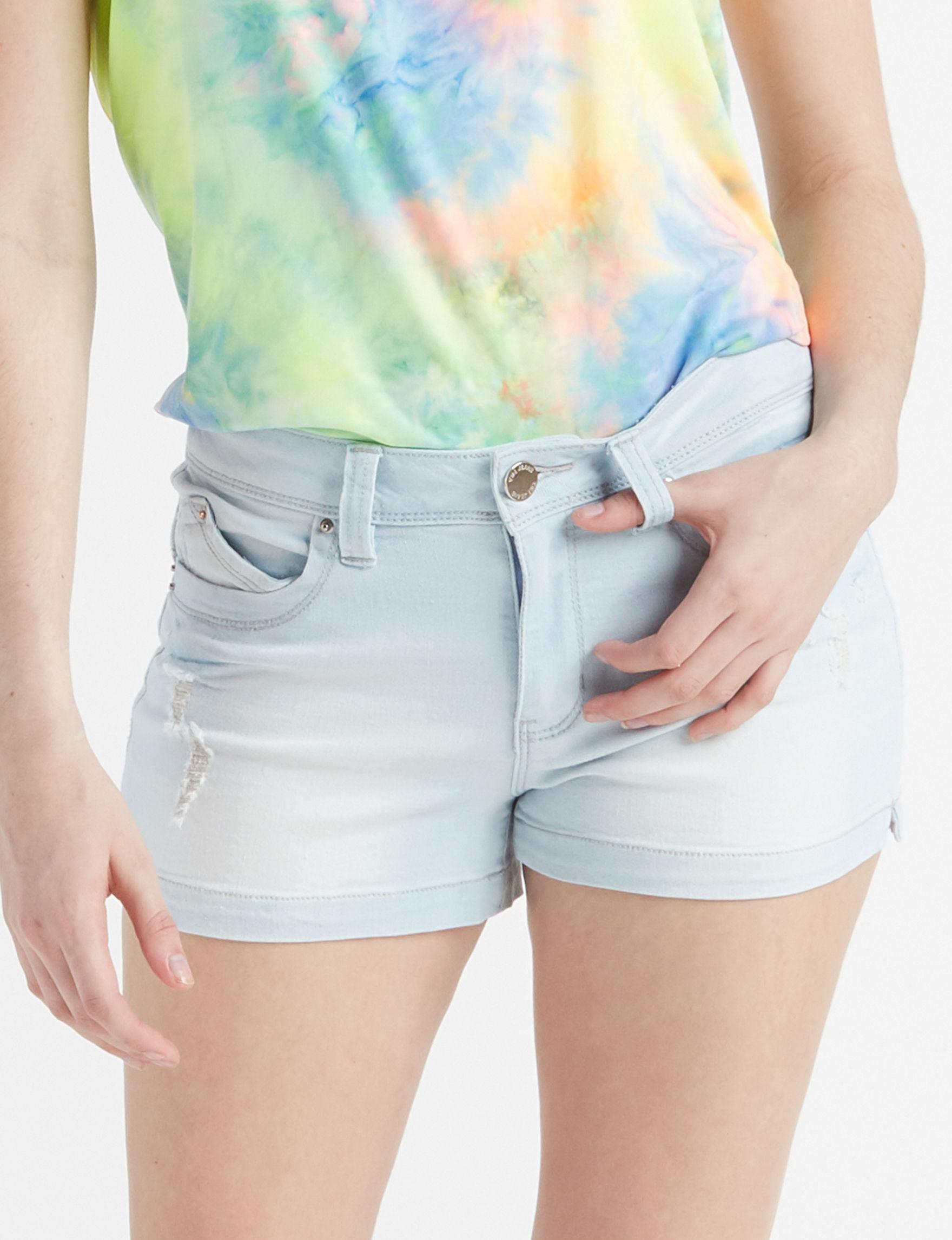 YMI Light Pastel Blue Denim Shorts