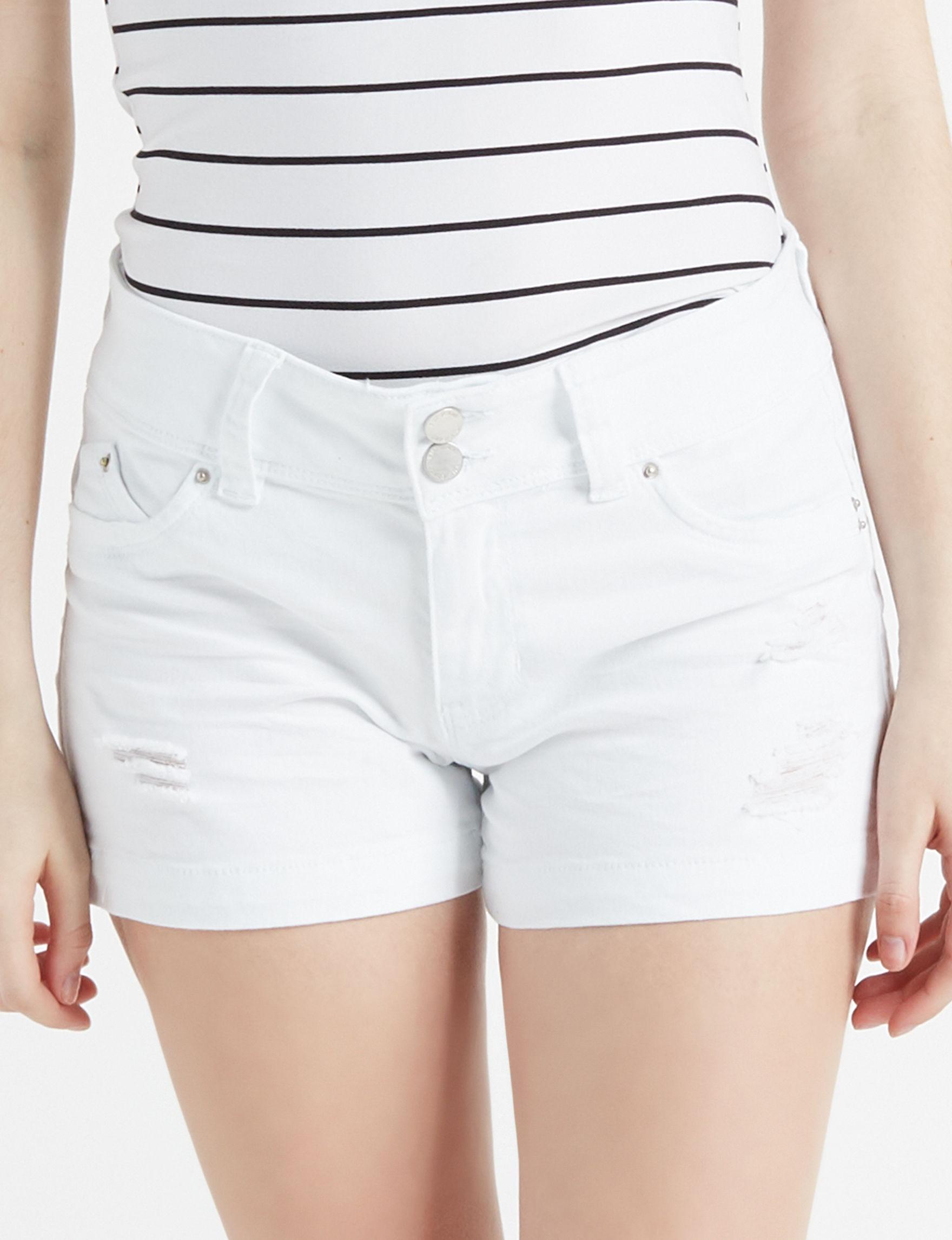 YMI White Denim Shorts
