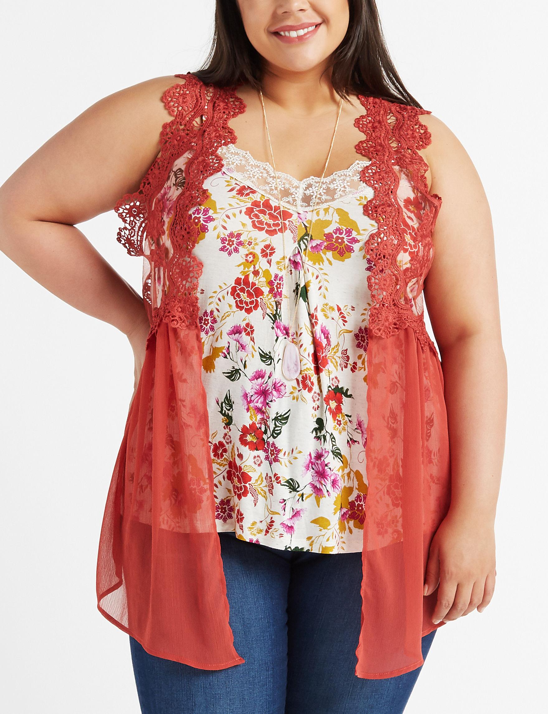 Self Esteem Beige Kimonos & Toppers Shirts & Blouses