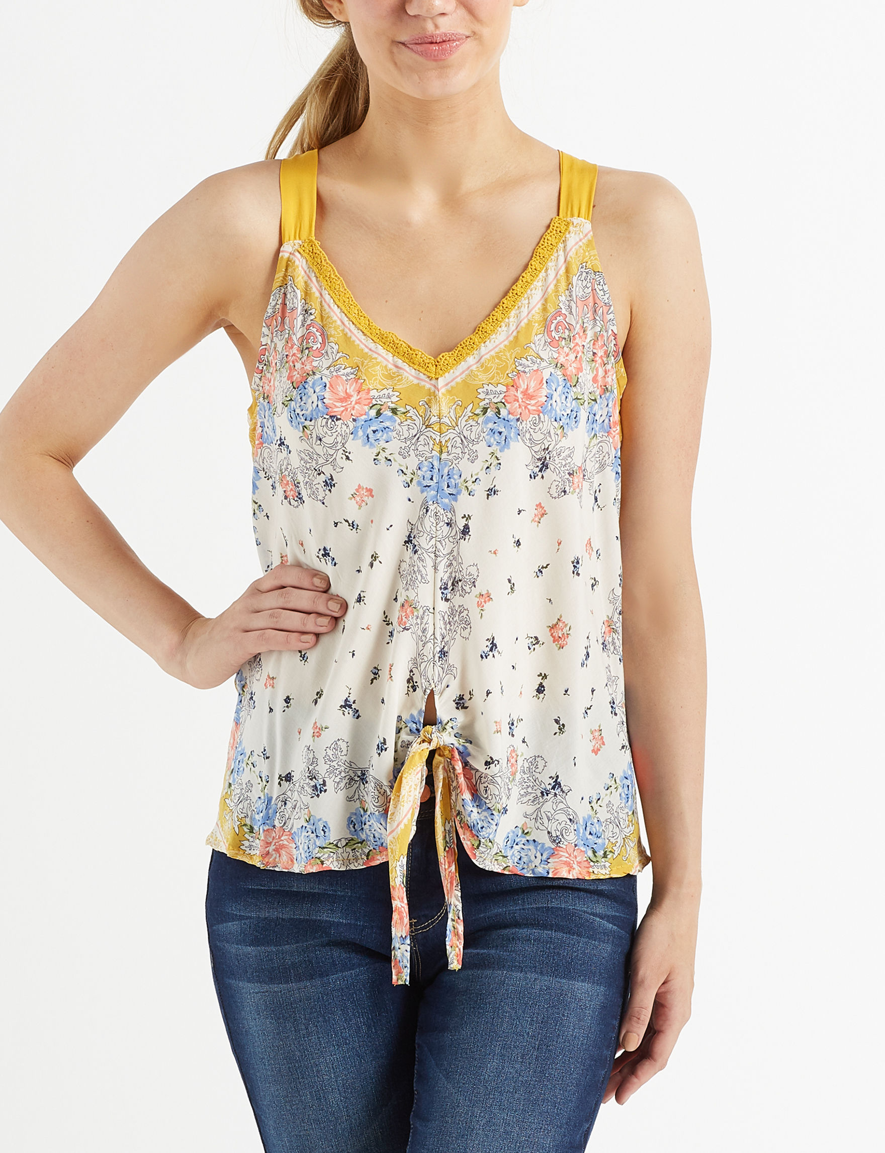 Taylor & Sage Yellow Shirts & Blouses