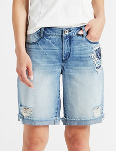 Maternity Smart Lucky Brand Lil Maggie Maternity Bermuda Short Jean M Clothing, Shoes & Accessories